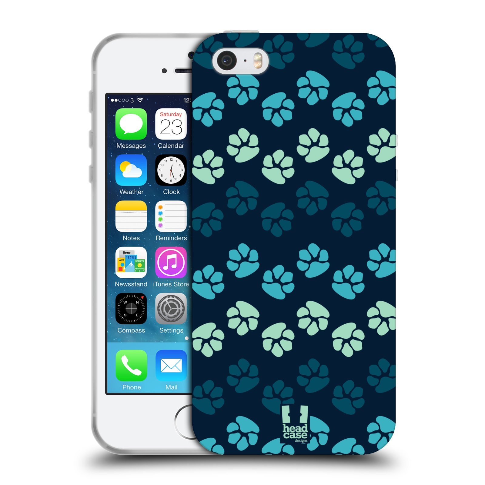 HEAD CASE PAWS TPU GEL BACK CASE COVER FOR APPLE iPHONE 5S