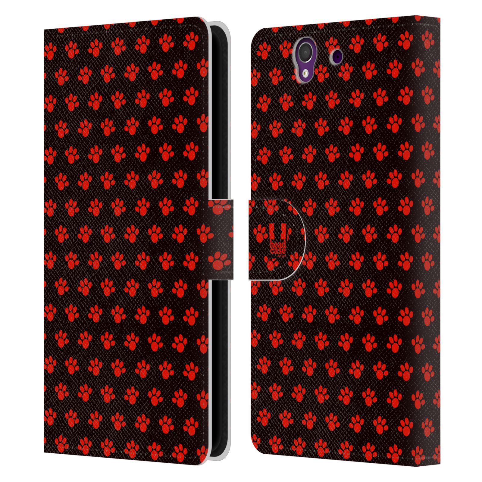 HEAD CASE Flipové pouzdro pro mobil SONY XPERIA Z (C6603) Pejsek ťapky ccc