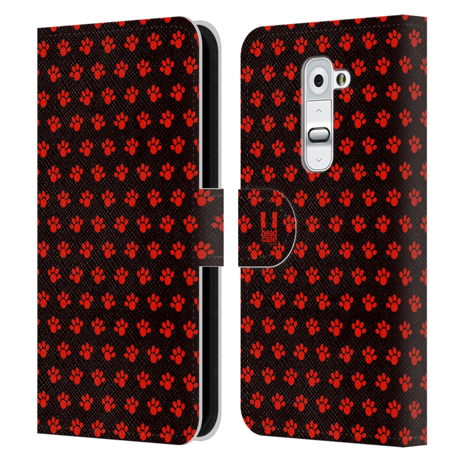 HEAD CASE Flipové pouzdro pro mobil LG G2 (D802) Pejsek ťapky ccc