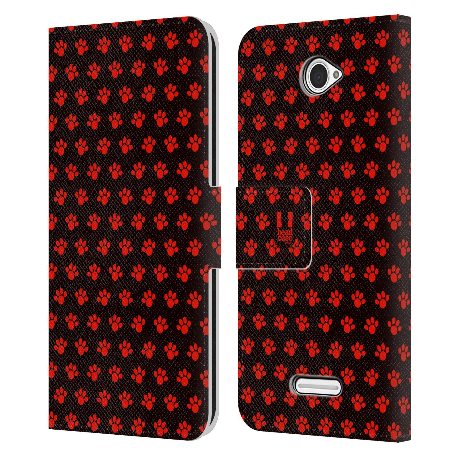 HEAD CASE Flipové pouzdro pro mobil SONY XPERIA E4 Pejsek ťapky ccc
