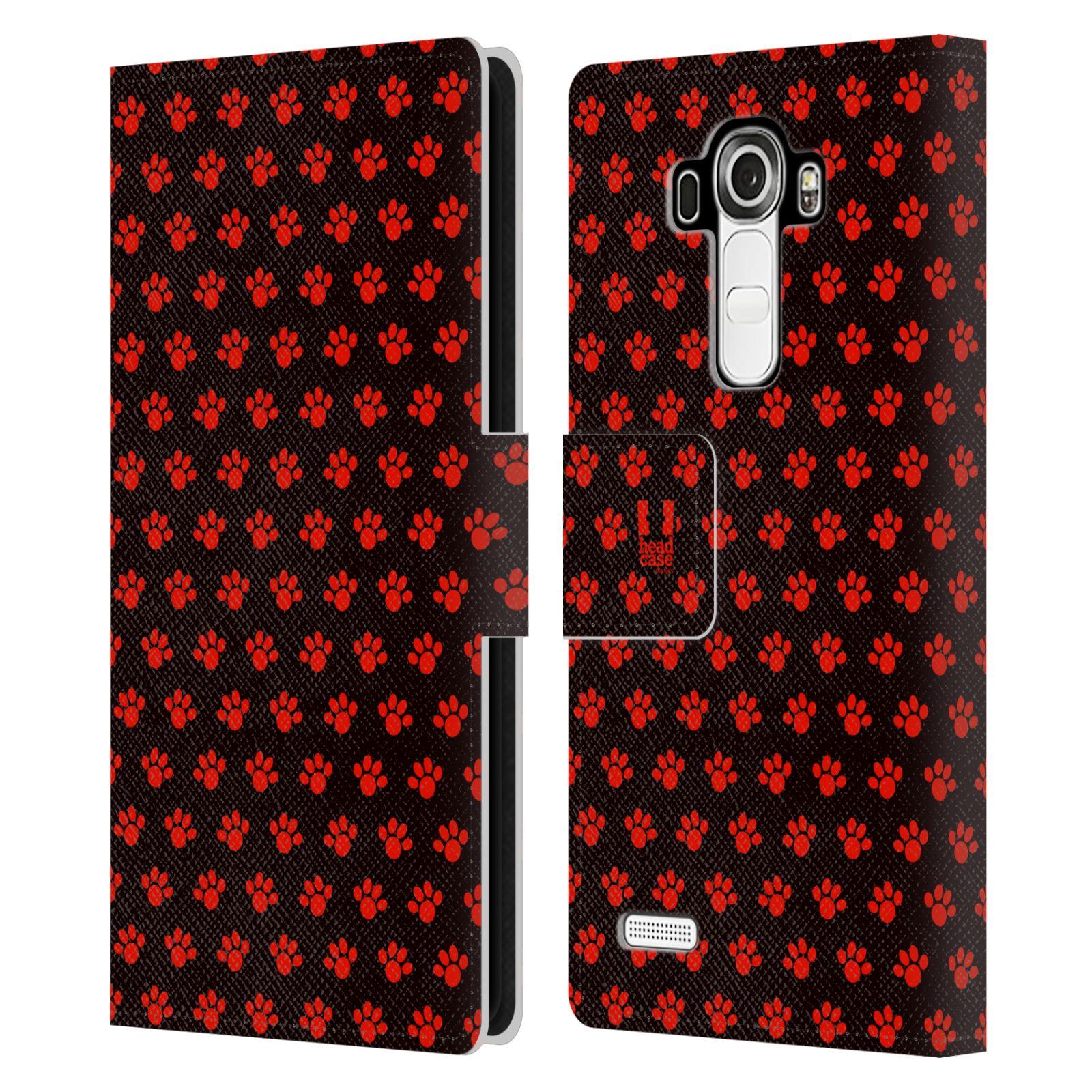 HEAD CASE Flipové pouzdro pro mobil LG G4 (H815) Pejsek ťapky ccc