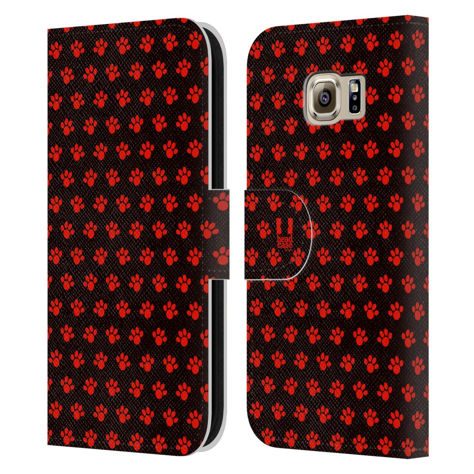 HEAD CASE Flipové pouzdro pro mobil Samsung Galaxy S6 (G9200) Pejsek ťapky ccc