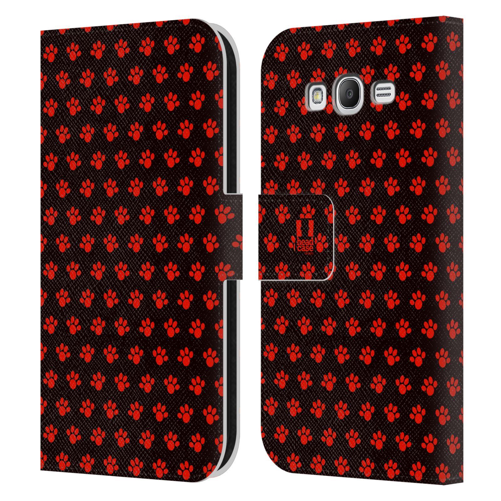 HEAD CASE Flipové pouzdro pro mobil Samsung Galaxy Grand i9080 Pejsek ťapky ccc