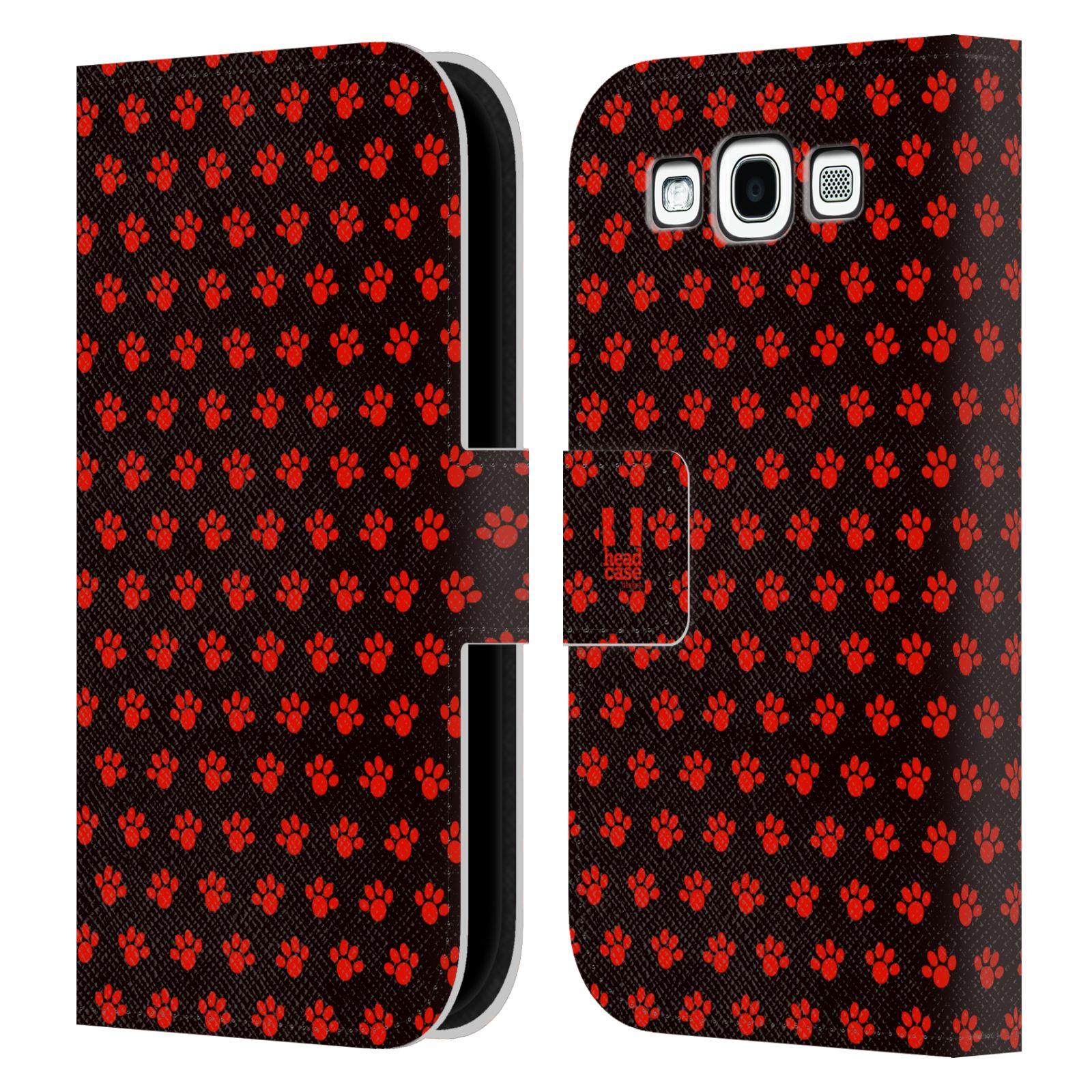 HEAD CASE Flipové pouzdro pro mobil Samsung Galaxy S3 Pejsek ťapky ccc