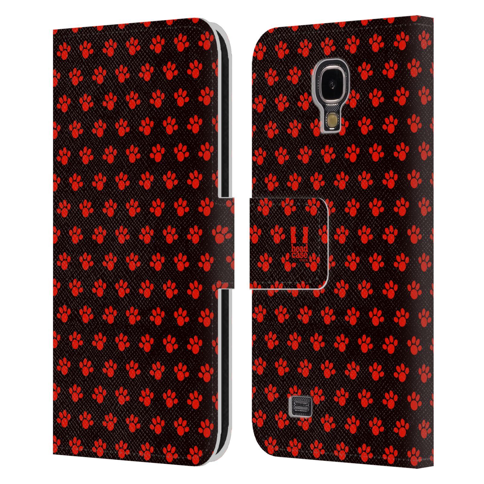 HEAD CASE Flipové pouzdro pro mobil Samsung Galaxy S4 Pejsek ťapky ccc