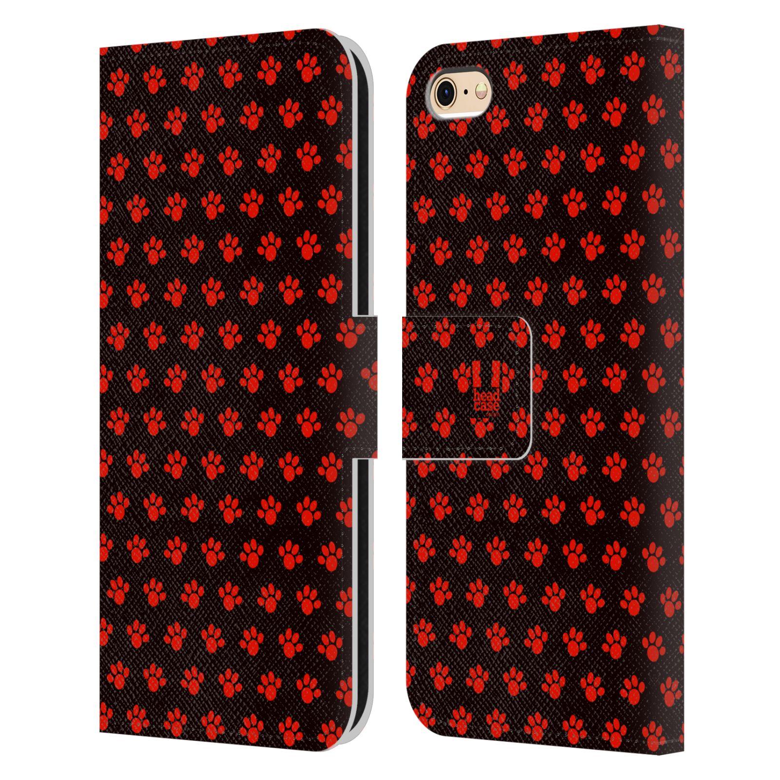 HEAD CASE Flipové pouzdro pro mobil Apple Iphone 6/6s Pejsek ťapky ccc