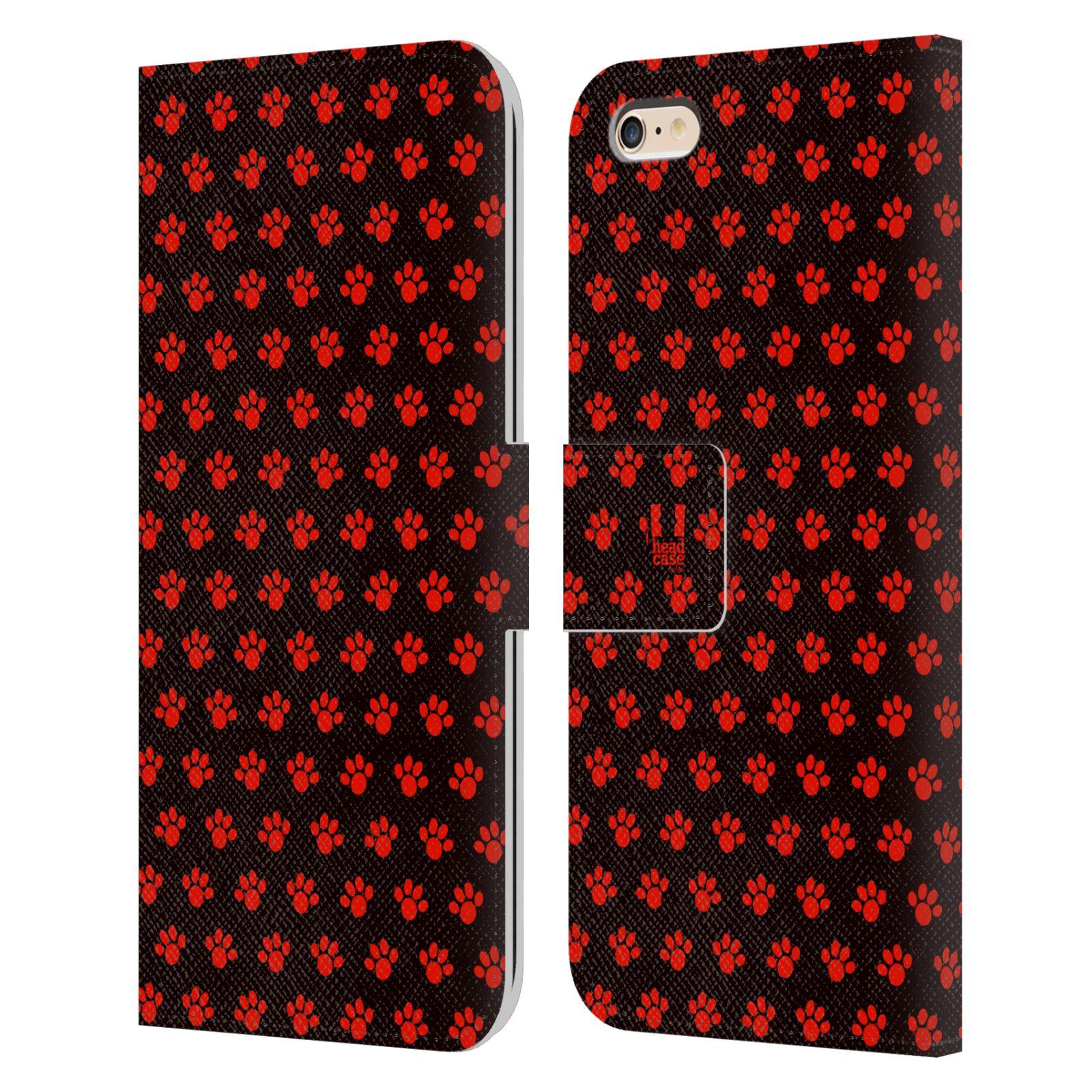 HEAD CASE Flipové pouzdro pro mobil Apple Iphone 6 PLUS / 6S PLUS Pejsek ťapky ccc
