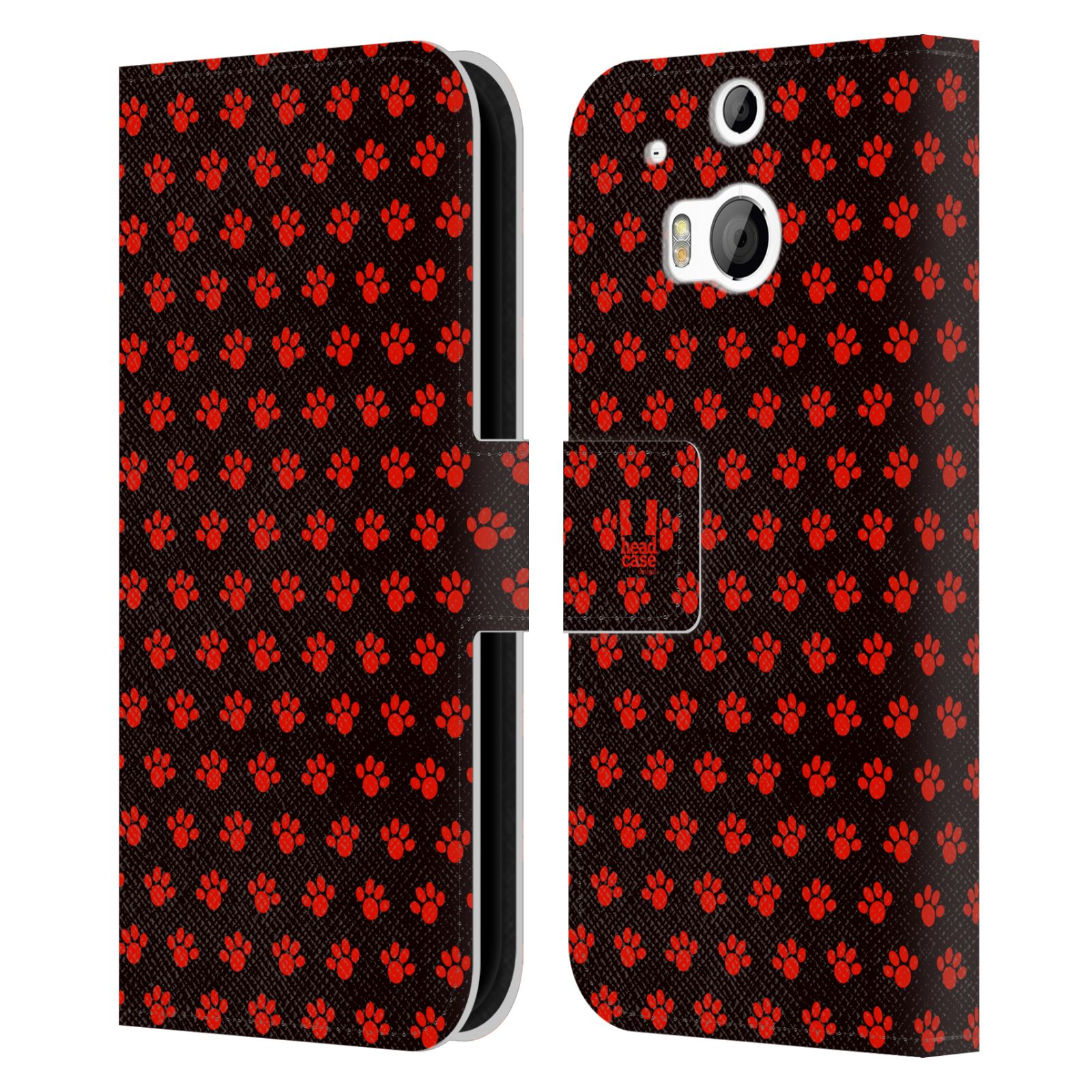HEAD CASE Flipové pouzdro pro mobil HTC ONE (M8, M8s) Pejsek ťapky ccc