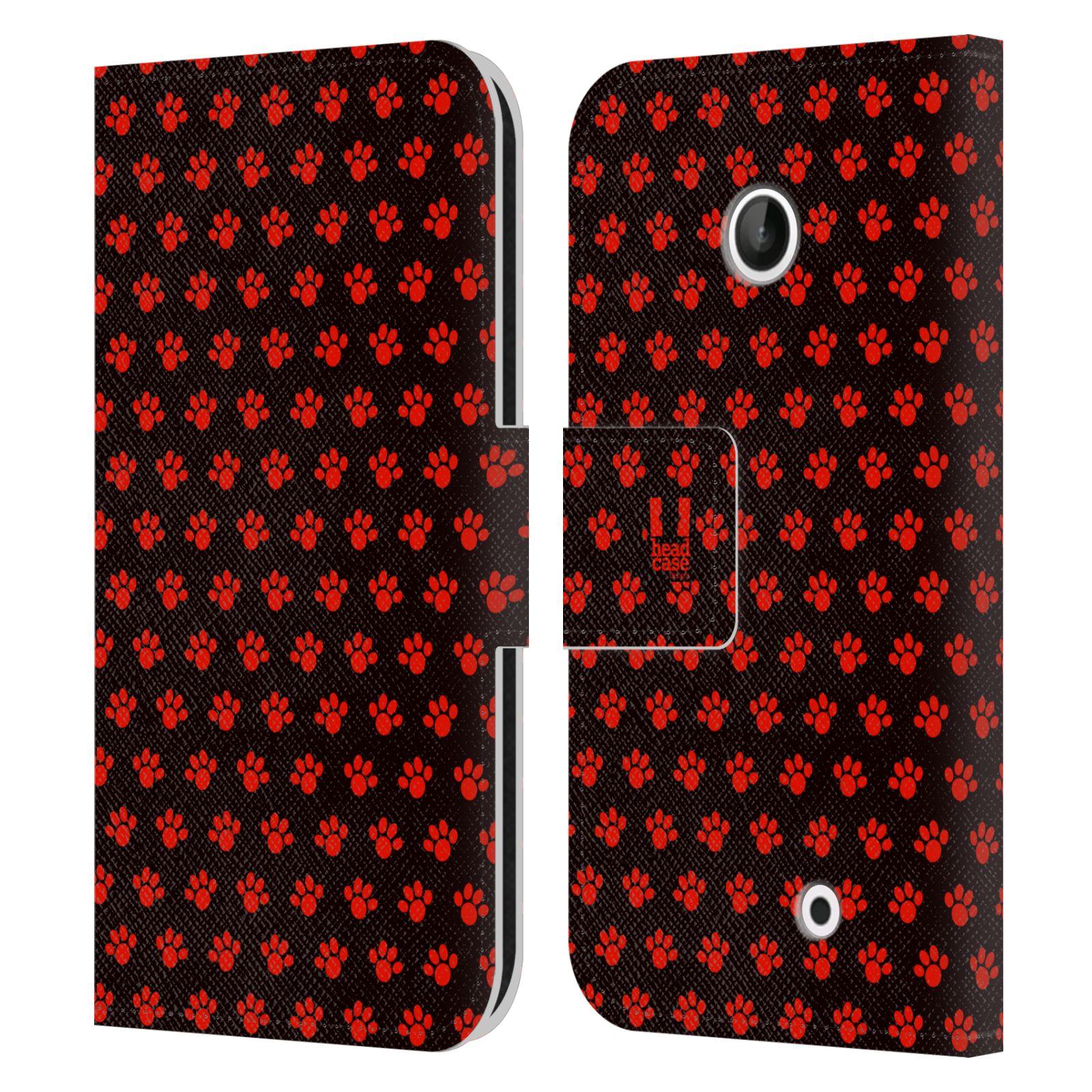 HEAD CASE Flipové pouzdro pro mobil NOKIA LUMIA 630 / LUMIA 630 DUAL Pejsek ťapky ccc