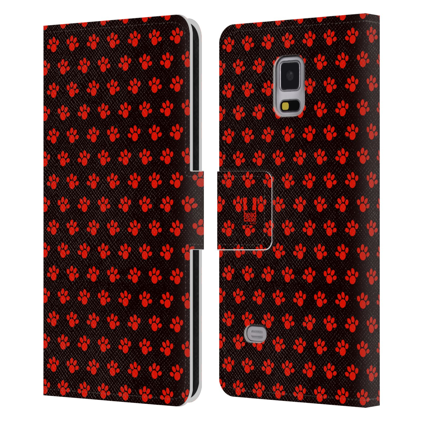 HEAD CASE Flipové pouzdro pro mobil Samsung Galaxy Note 4 Pejsek ťapky ccc