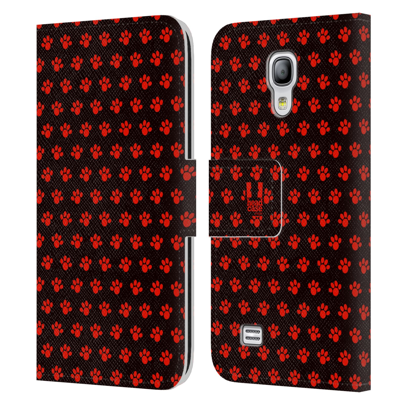 HEAD CASE Flipové pouzdro pro mobil Samsung Galaxy S4 MINI / S4 MINI DUOS Pejsek ťapky ccc