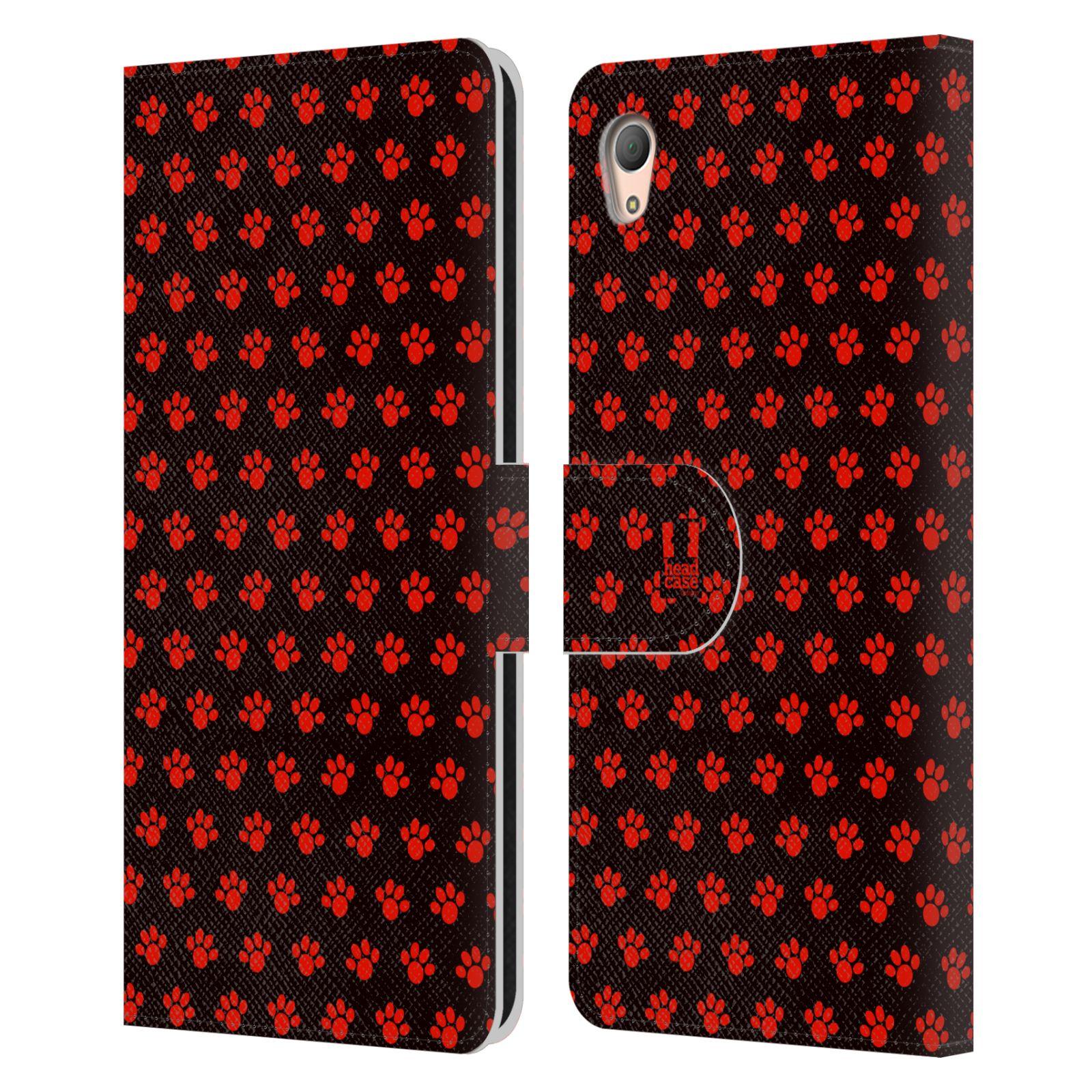 HEAD CASE Flipové pouzdro pro mobil SONY XPERIA Z3+ (PLUS) Pejsek ťapky ccc