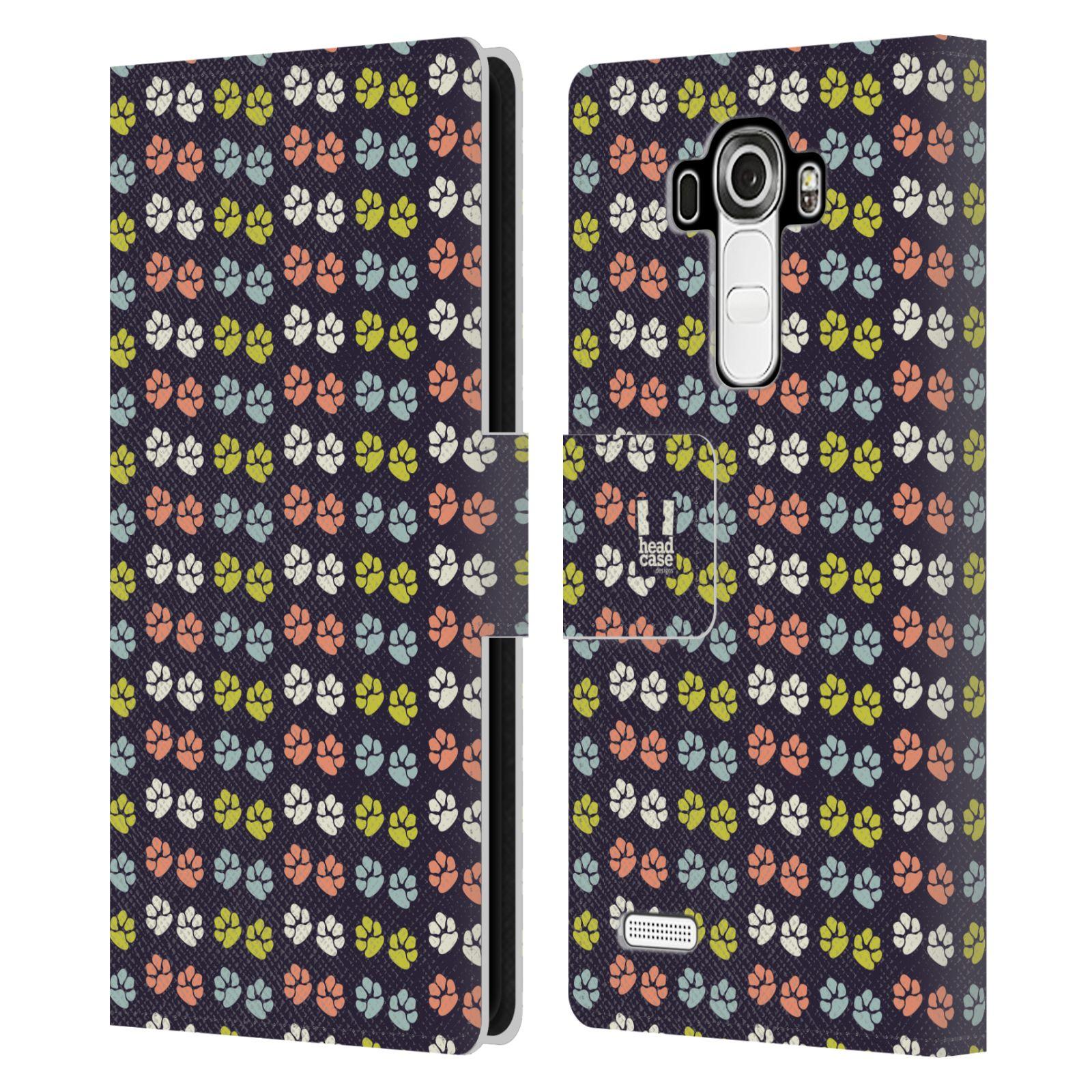 HEAD CASE Flipové pouzdro pro mobil LG G4 (H815) Pejsek ťapky barevné RETRO