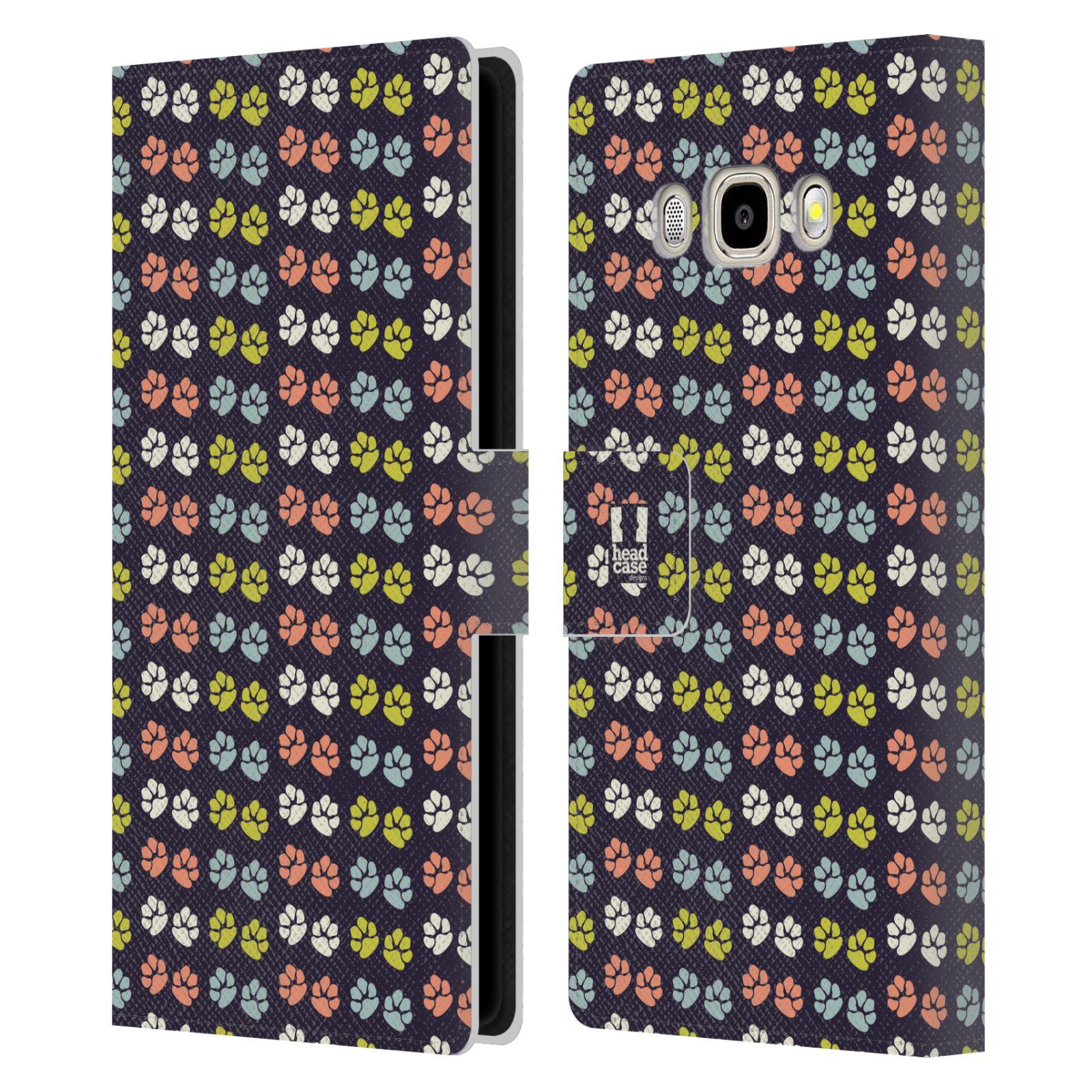 HEAD CASE Flipové pouzdro pro mobil Samsung Galaxy J5 2016 Pejsek ťapky barevné RETRO