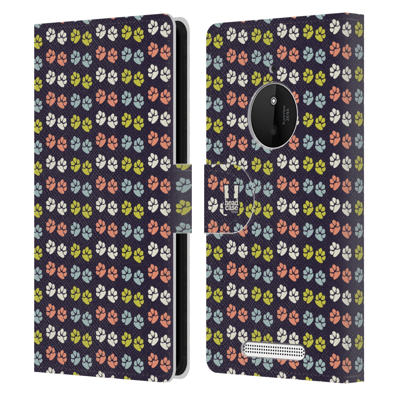 HEAD CASE Flipové pouzdro pro mobil NOKIA LUMIA 830 Pejsek ťapky barevné RETRO