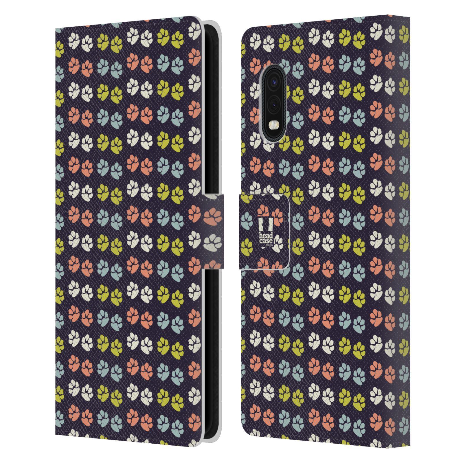 Flipové pouzdro pro mobil Samsung Galaxy Xcover Pro Pejsek ťapky barevné RETRO