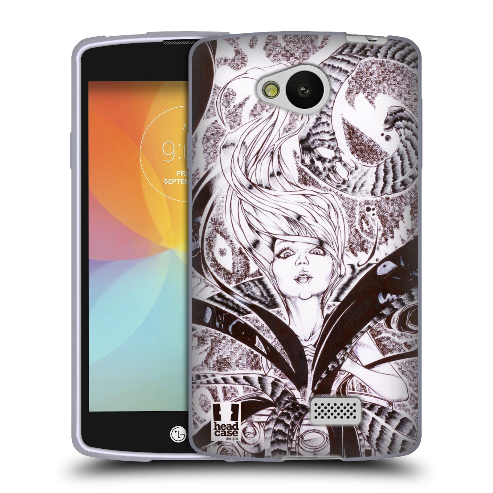 HEAD CASE silikonový obal na mobil LG F60 vzor Pero a tužka obrázek posedlá démonem