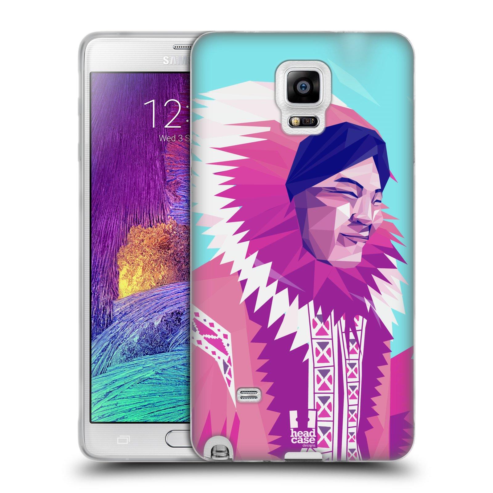 HEAD CASE silikonový obal na mobil Samsung Galaxy Note 4 (N910) vzor Lidé světa ESKYMÁK