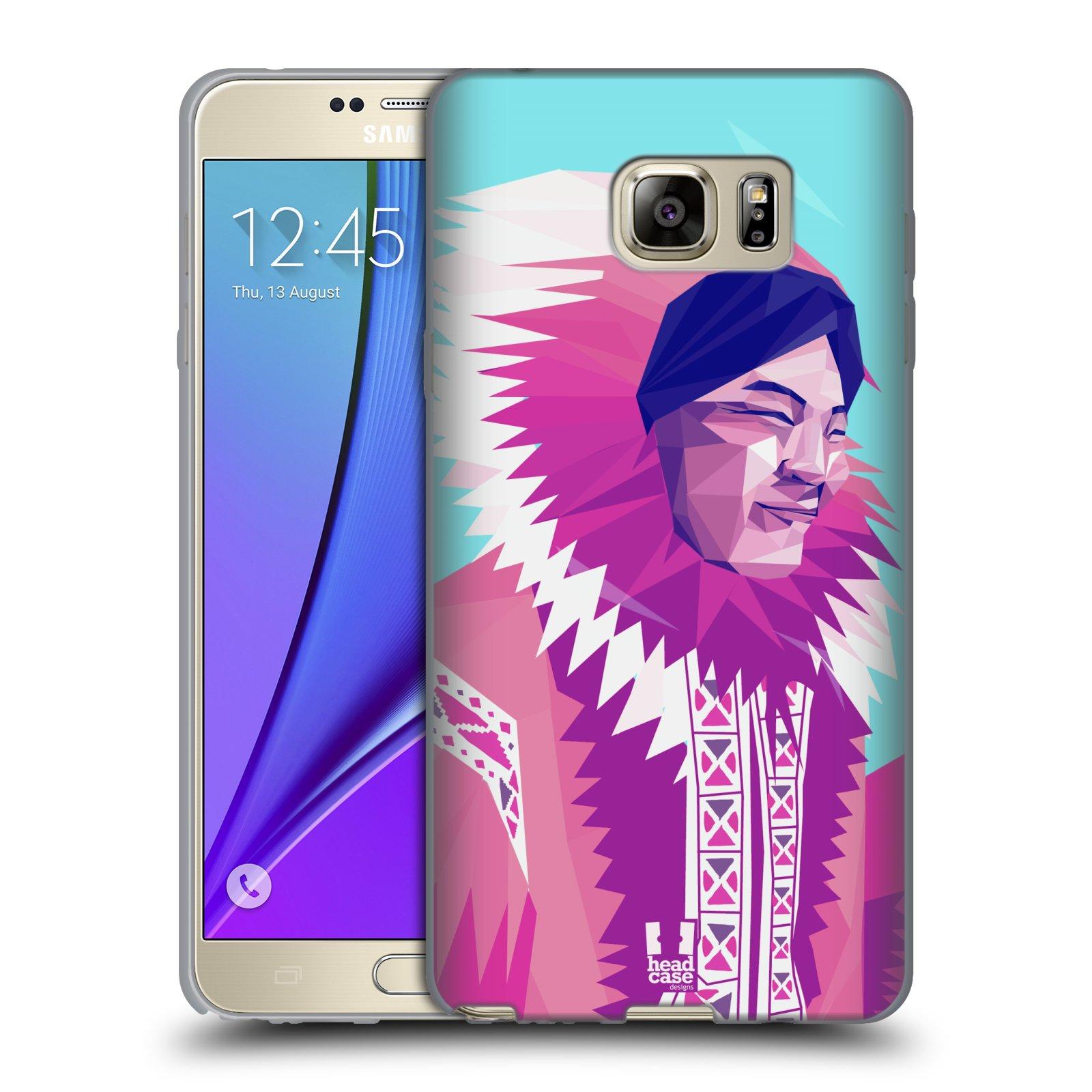 HEAD CASE silikonový obal na mobil Samsung Galaxy Note 5 (N920) vzor Lidé světa ESKYMÁK