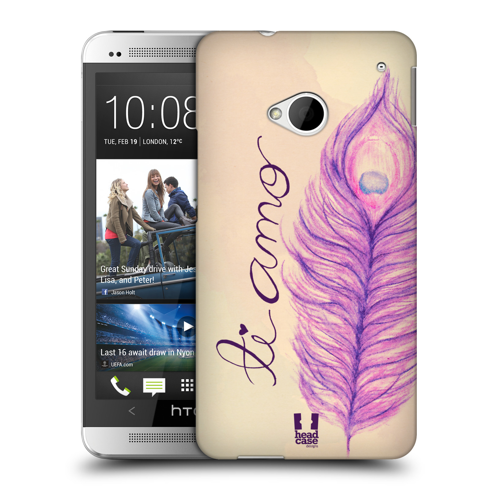 HEAD CASE DESIGNS PEACOCK FEATHERS CASE COVER FOR HTC ONE