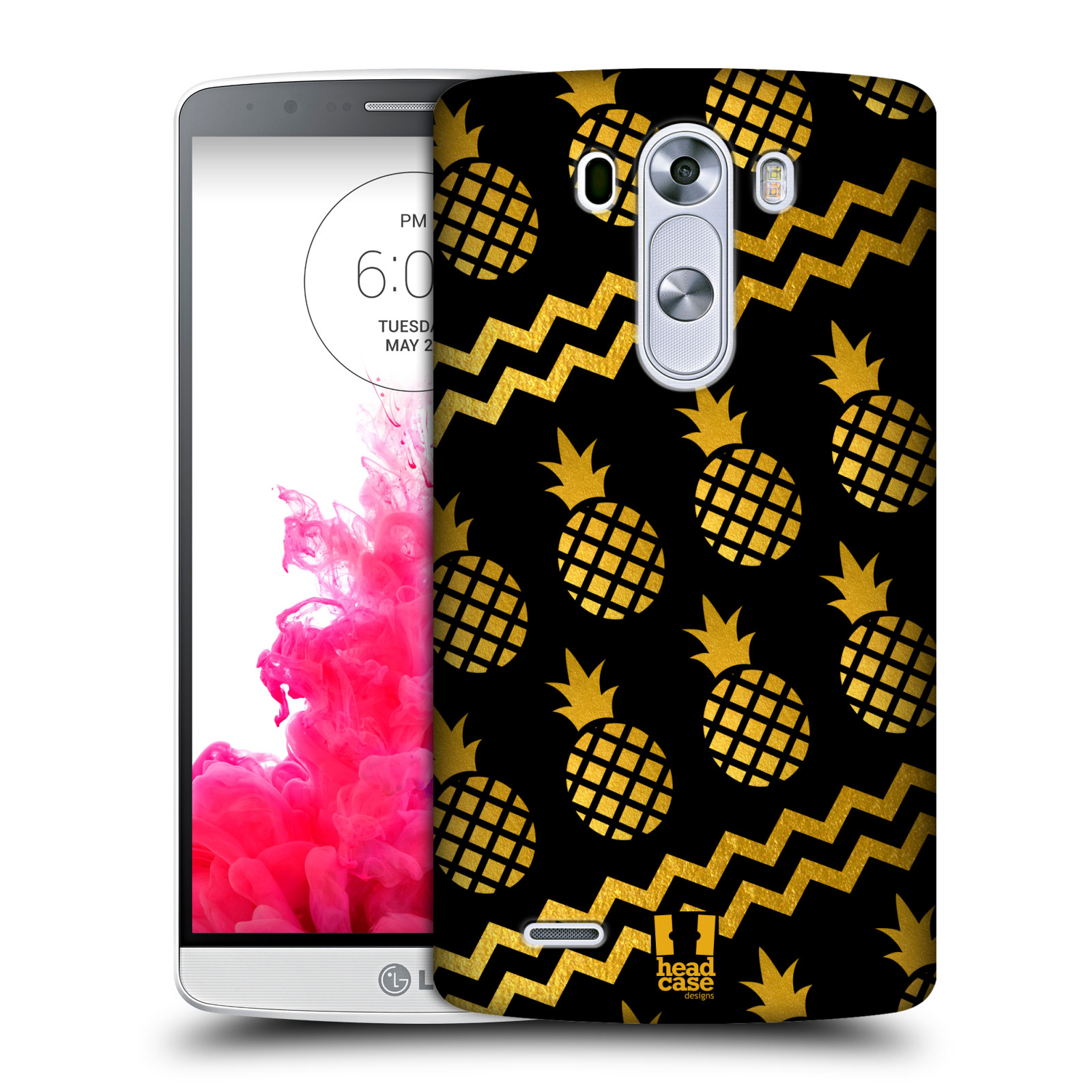 head case designs pineapple prints hard back case for lg