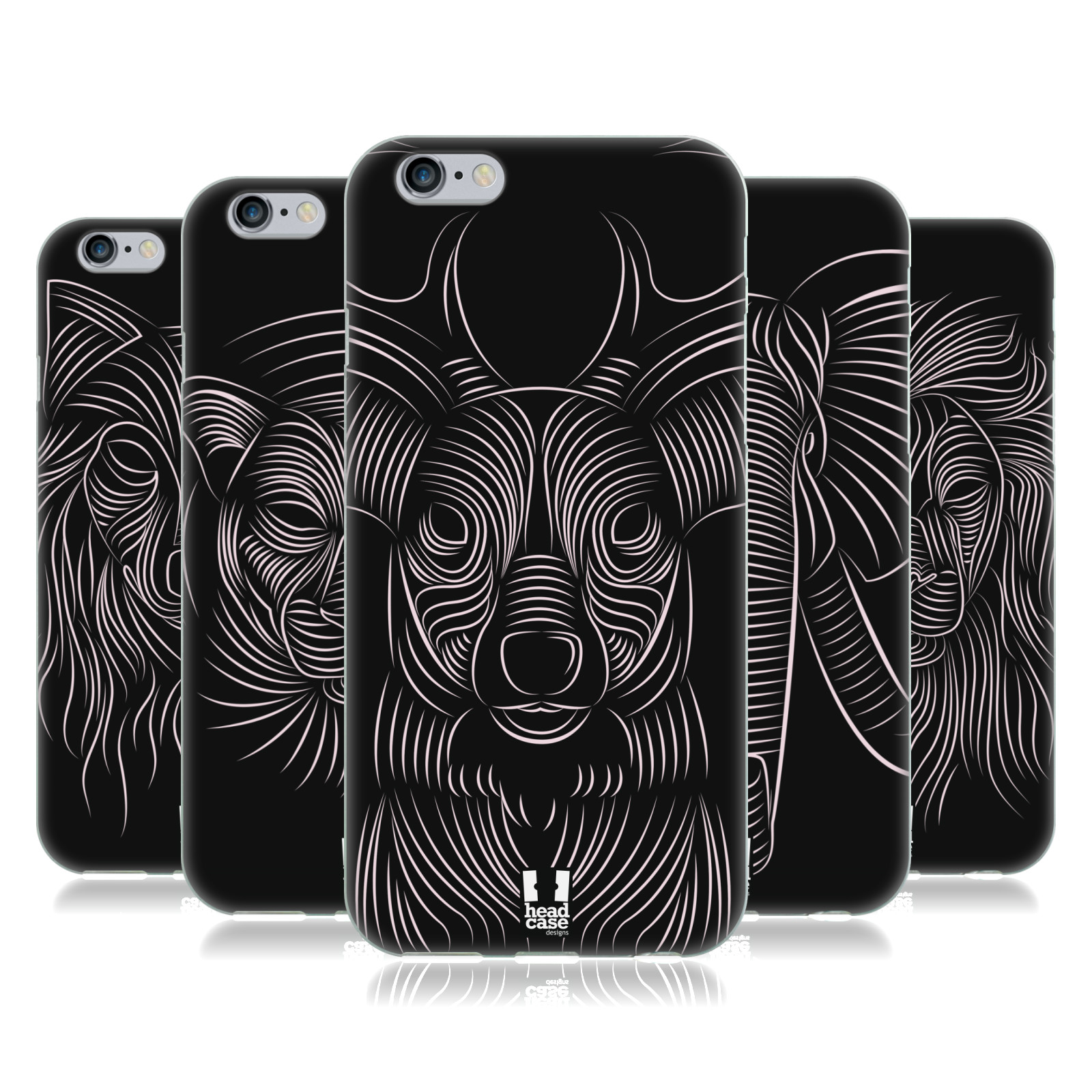 HEAD-CASE-DESIGNS-PIN-STRIPE-ANIMALS-SOFT-GEL-CASE-FOR-APPLE-iPHONE-PHONES