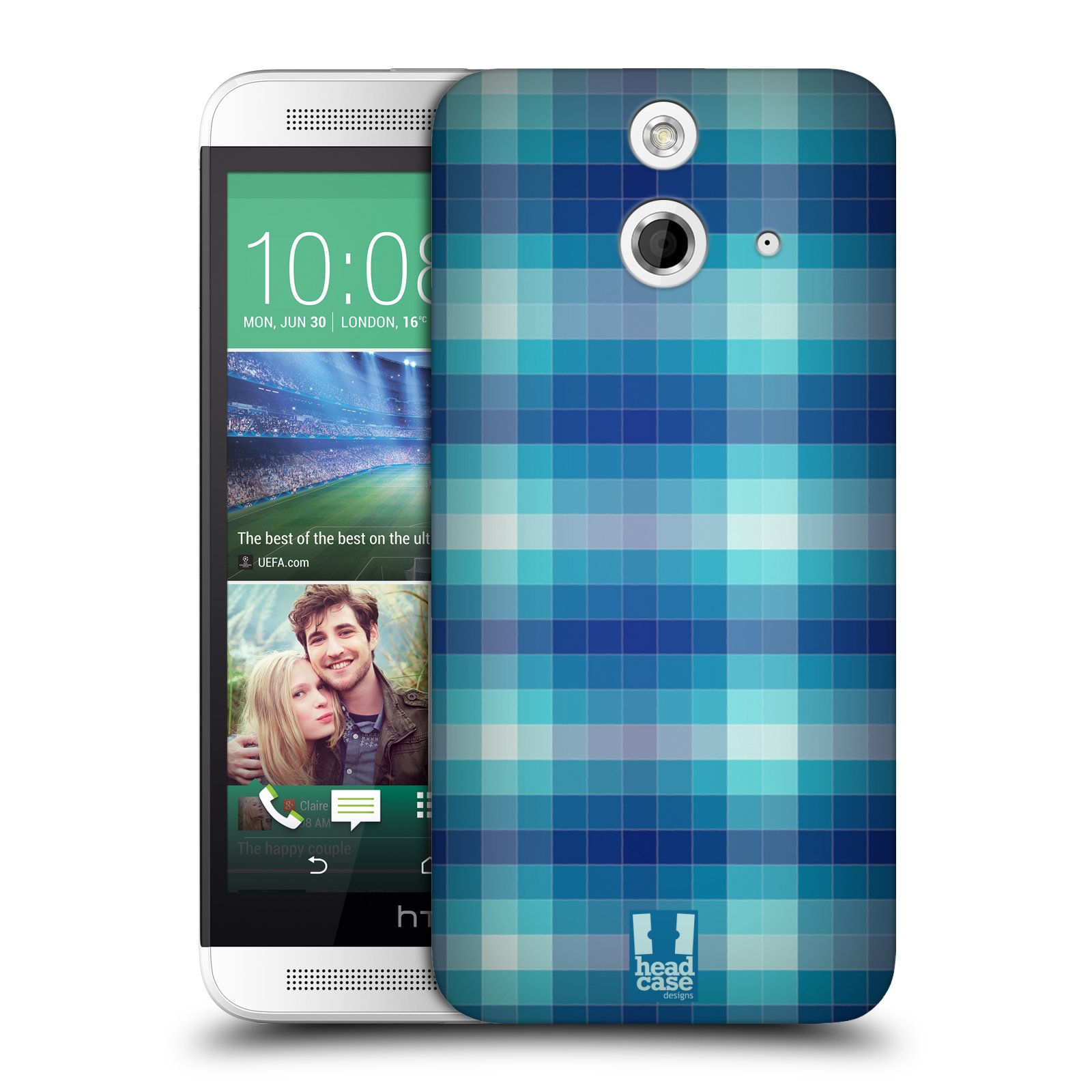 HEAD CASE DESIGNS PIXEL PATTERNS HARD BACK CASE FOR HTC ONE E8 DUAL SIM