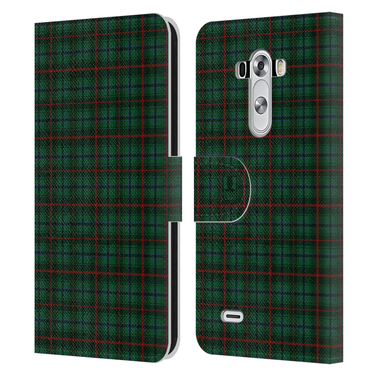 Head case designs plaid pattern leather book wallet case for Case design