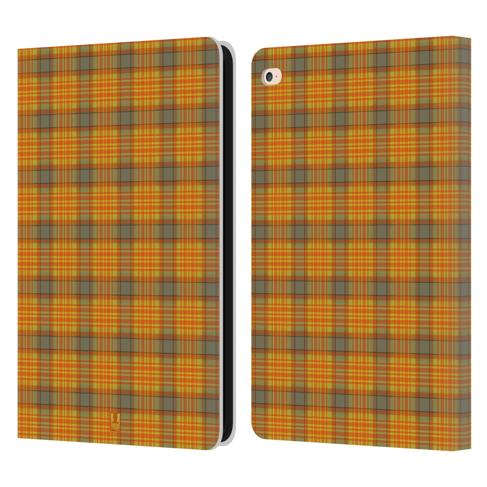 Checkered Cover Cookbook ~ Head case designs plaid pattern leather book wallet