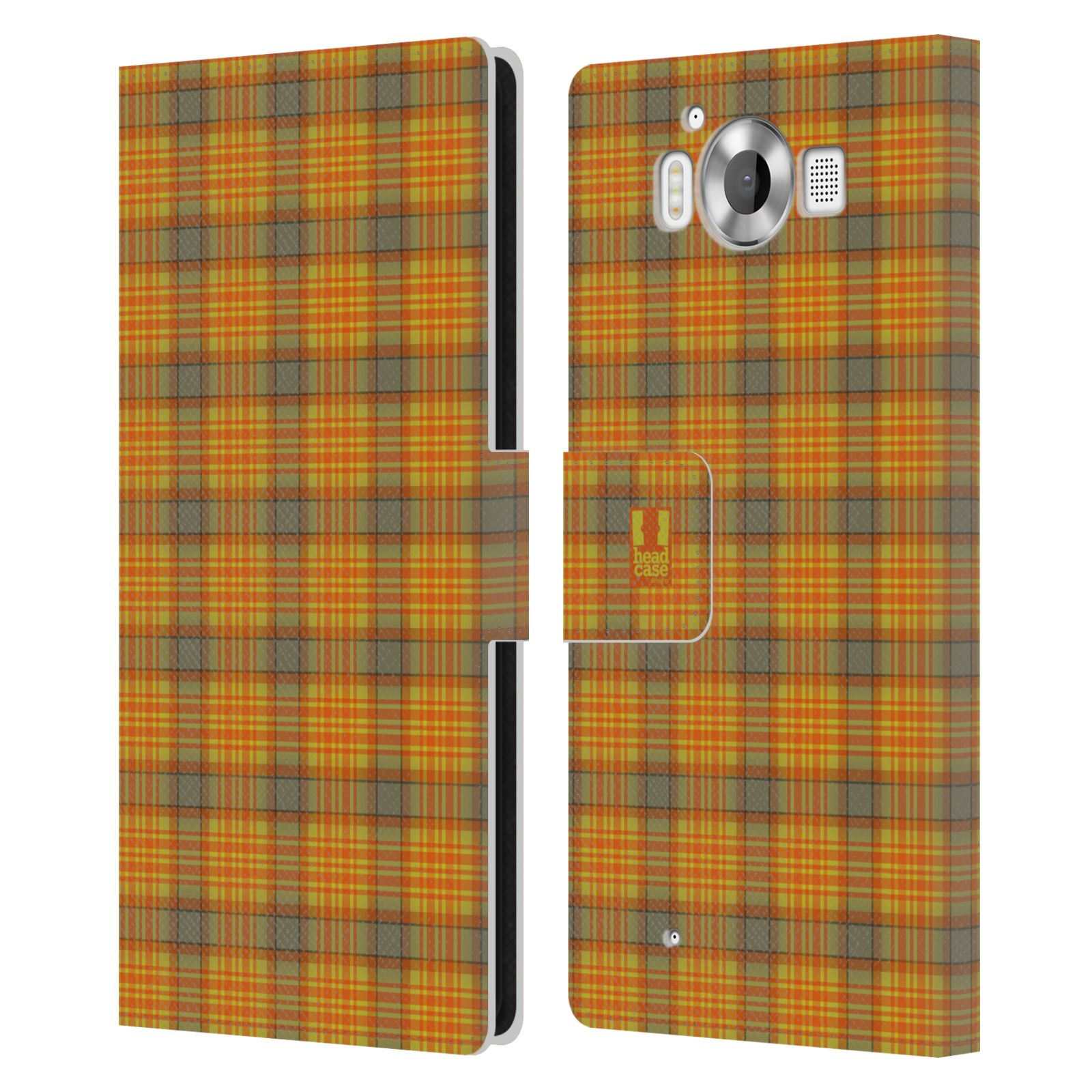 Checkered Cover Cookbook ~ Head case designs plaid leather book wallet cover for