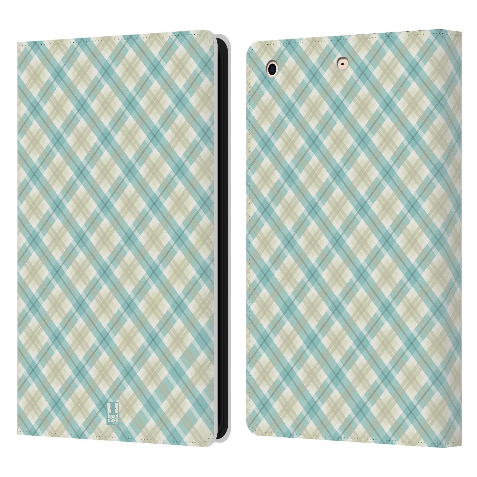 Checkered Cover Cookbook : Head case designs plaid leather book wallet cover for