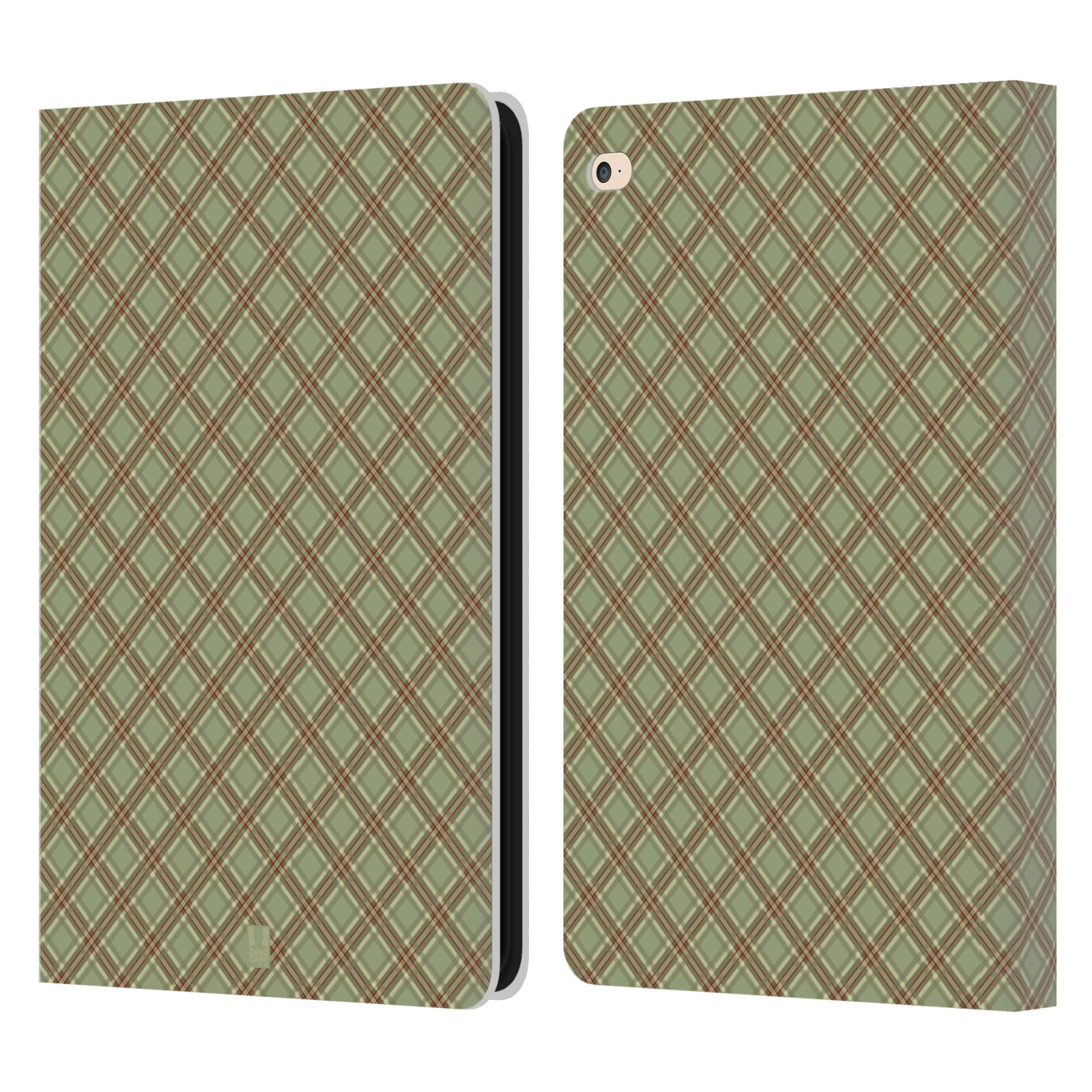 Leather Book Cover Pattern : Head case designs plaid pattern leather book wallet