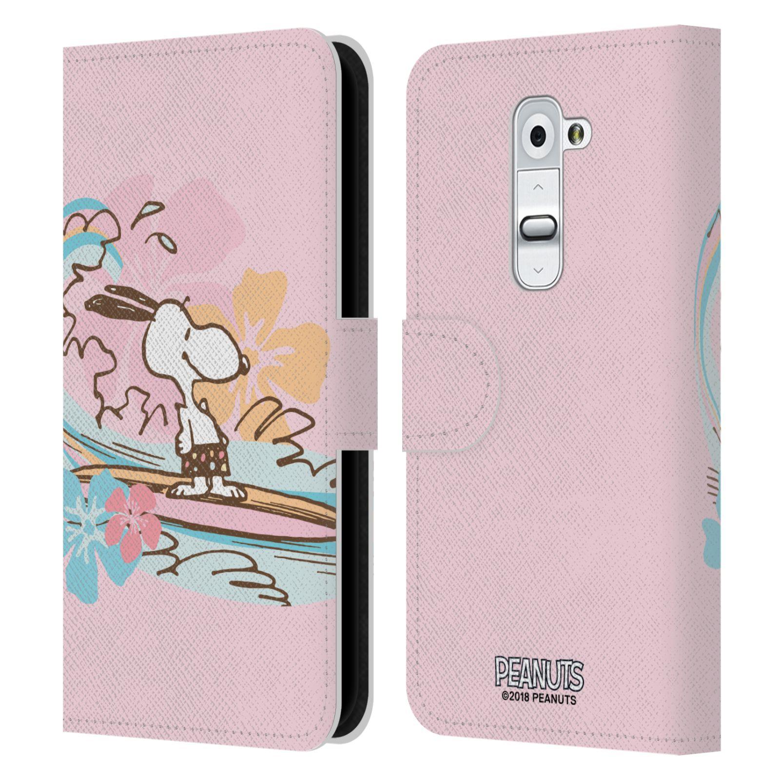 Pouzdro na mobil LG G2 - Head Case - Peanuts - Snoopy pejsek surfuje