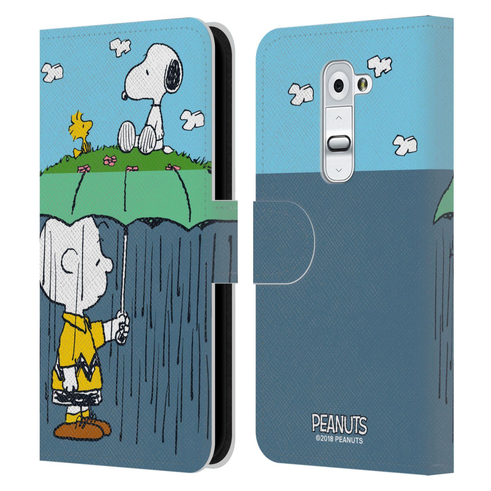 Pouzdro na mobil LG G2 - Head Case - Peanuts - Snoopy, Charlie a ptáček Woodstock