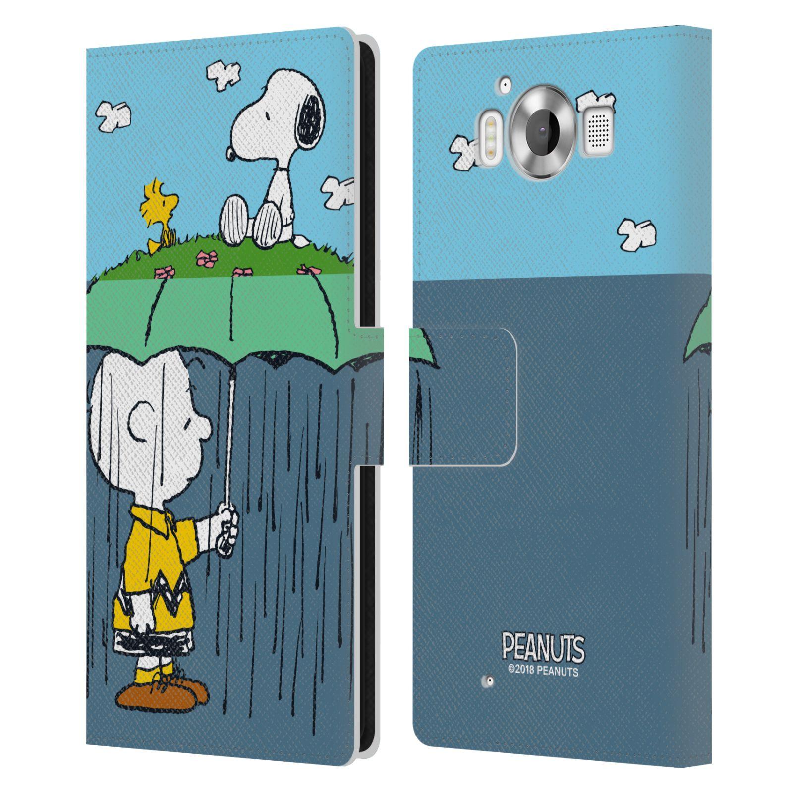 Pouzdro na mobil Nokia Lumia 950 - Head Case - Peanuts - Snoopy, Charlie a ptáček Woodstock