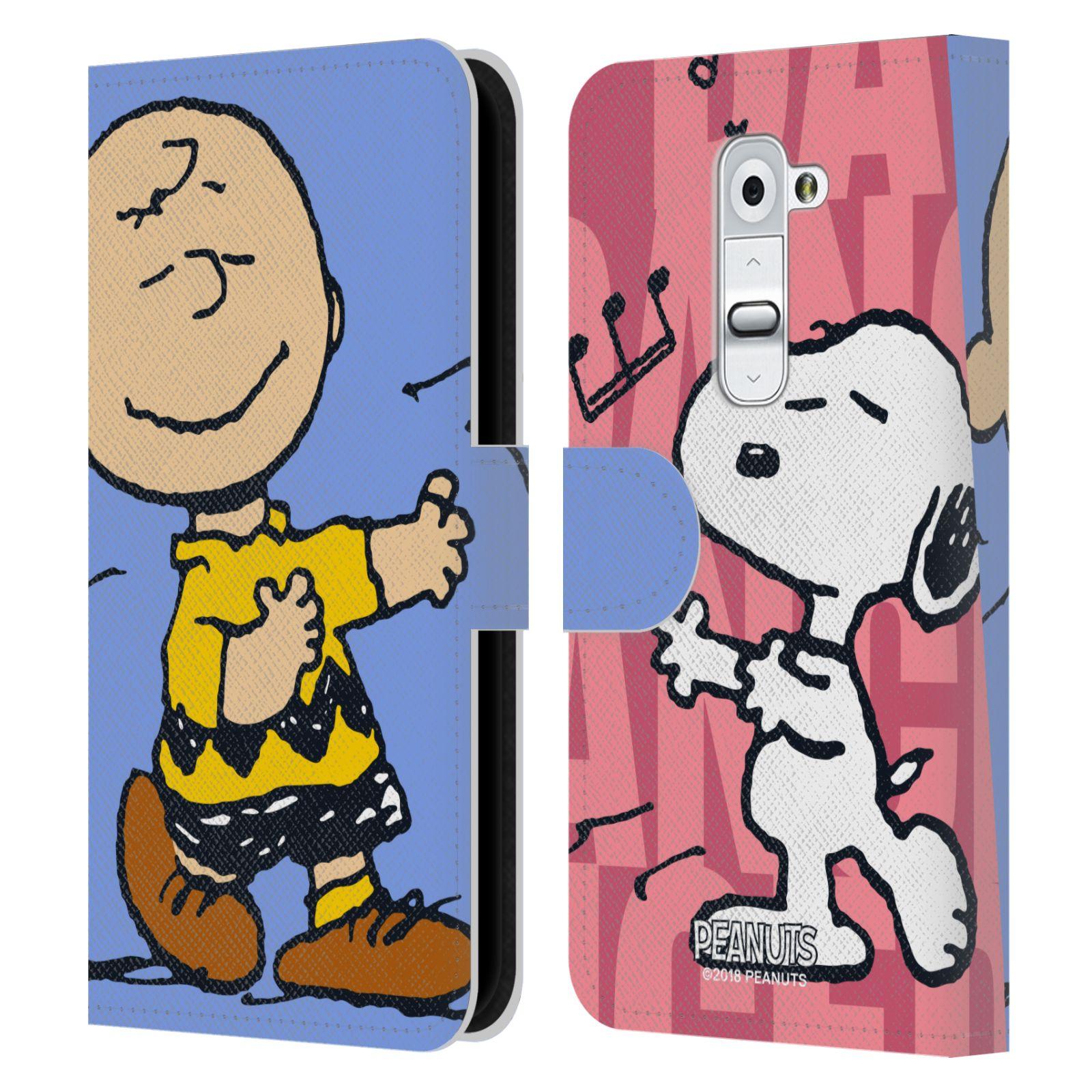 Pouzdro na mobil LG G2 - Head Case - Peanuts - Snoopy a Charlie