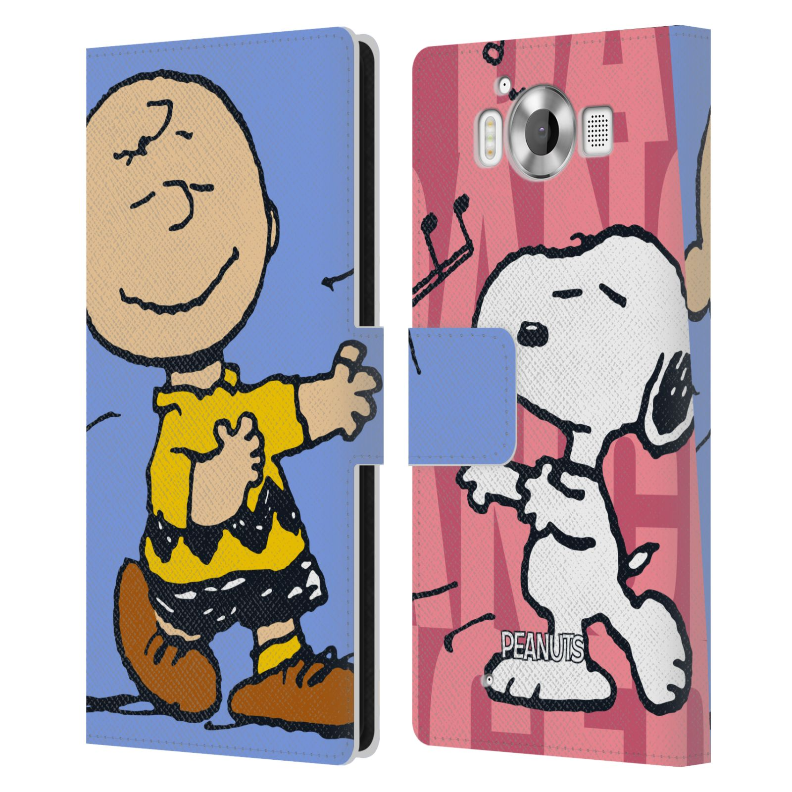 Pouzdro na mobil Nokia Lumia 950 - Head Case - Peanuts - Snoopy a Charlie