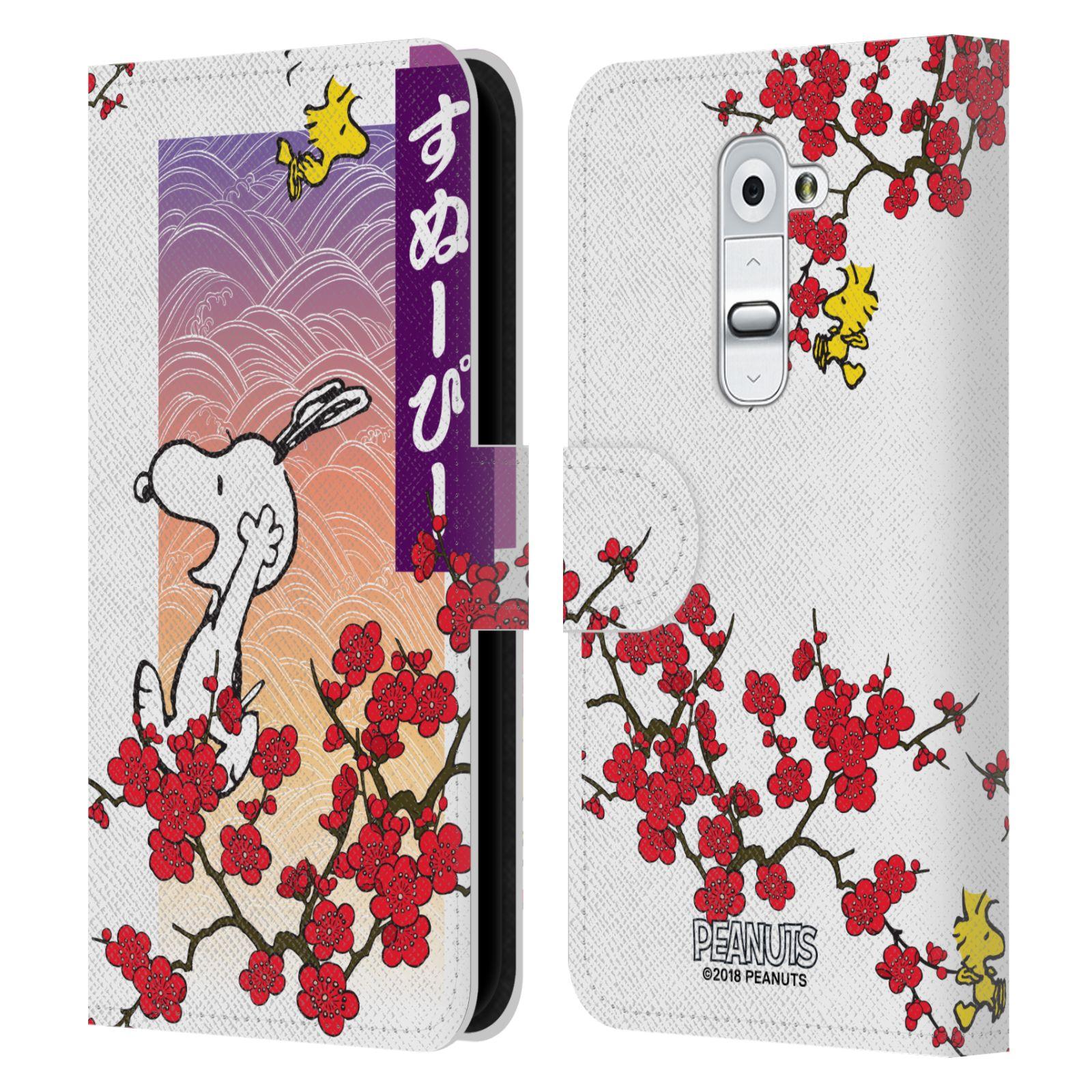 Pouzdro na mobil LG G2 - Head Case - Peanuts - Snoopy, ptáček Woodstock rozkvetlá třešeň