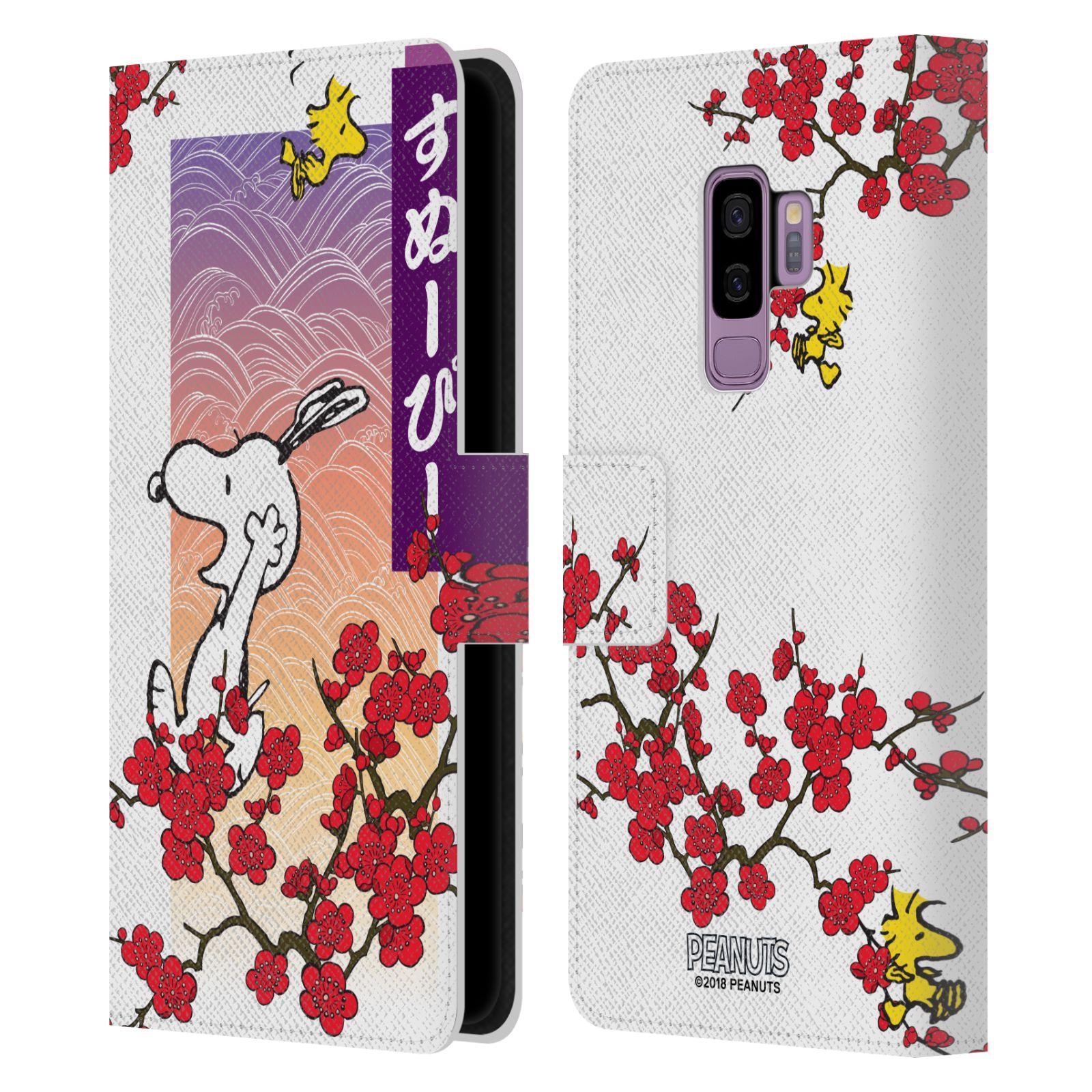 Pouzdro na mobil Samsung Galaxy S9 Plus - Head Case - Peanuts - Snoopy, ptáček Woodstock rozkvetlá třešeň