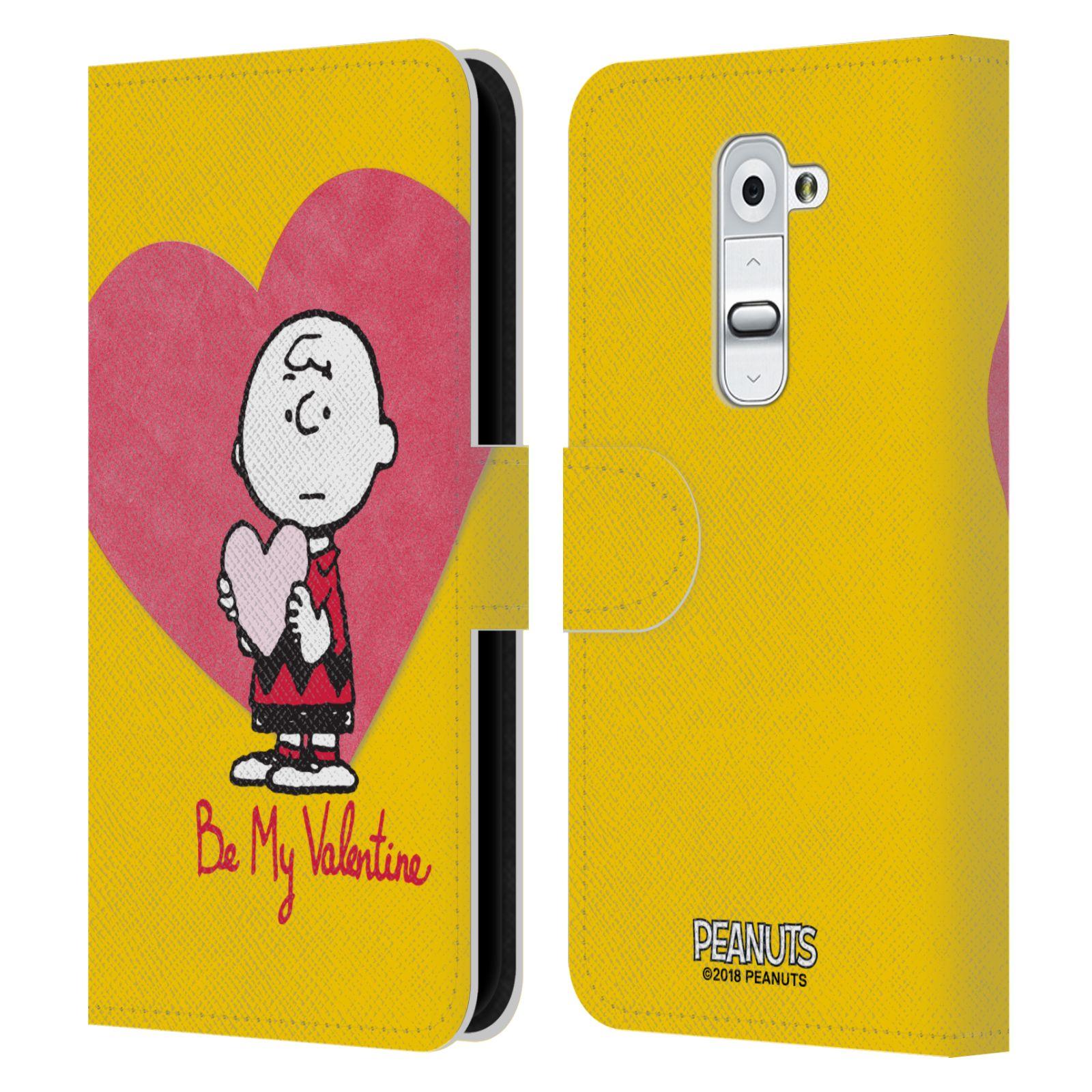 Pouzdro na mobil LG G2 - Head Case -Peanuts - Charlie Brown valentýnské srdíčko