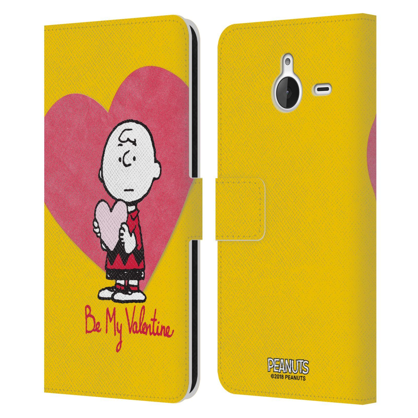 Pouzdro na mobil Nokia Lumia 640 XL - Head Case -Peanuts - Charlie Brown valentýnské srdíčko