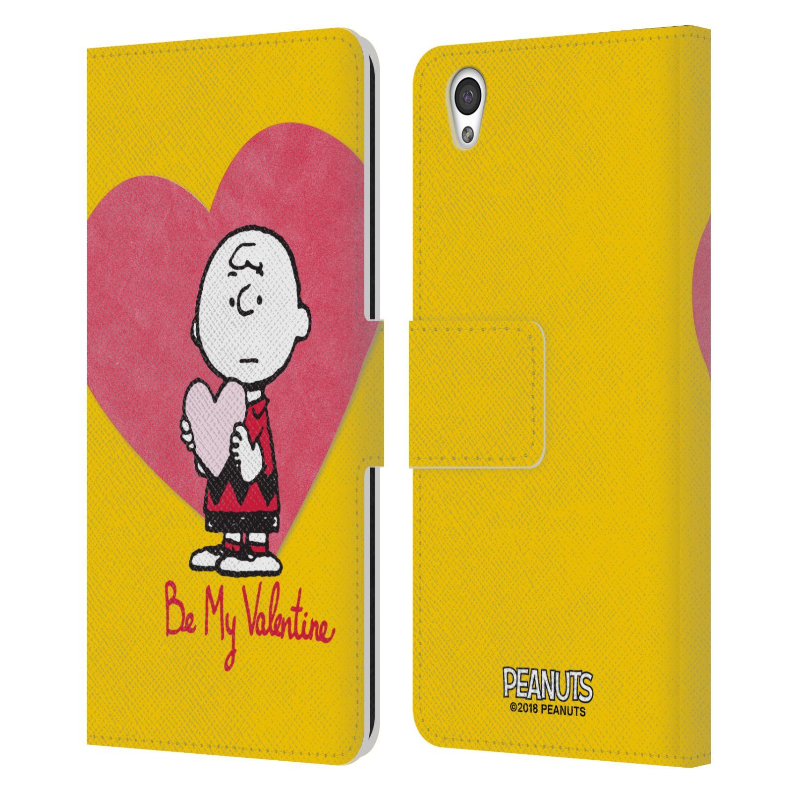 Pouzdro na mobil OnePlus X - Head Case -Peanuts - Charlie Brown valentýnské srdíčko
