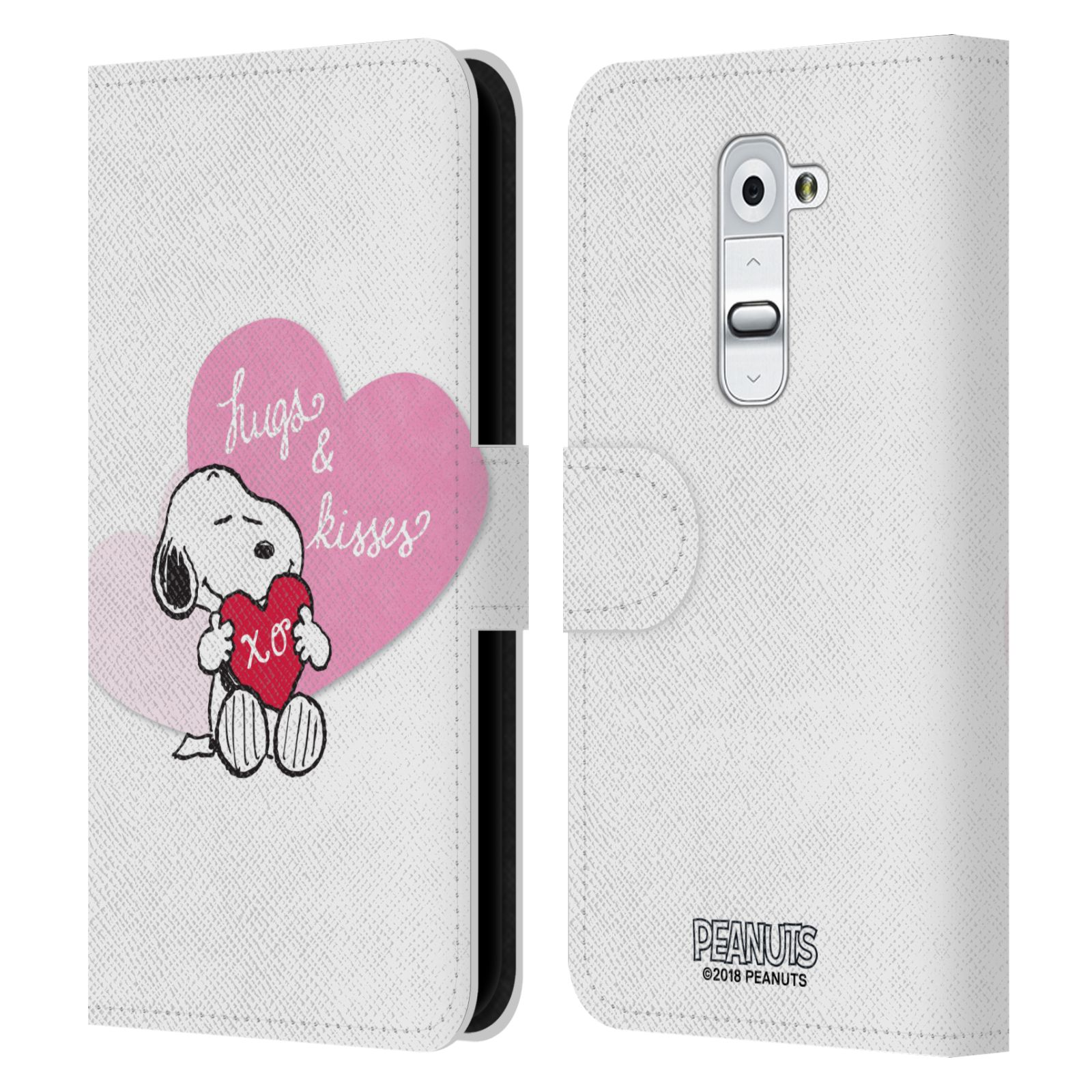 Pouzdro na mobil LG G2 - Head Case - Peanuts - Snoopy pejsek se srdíčkem