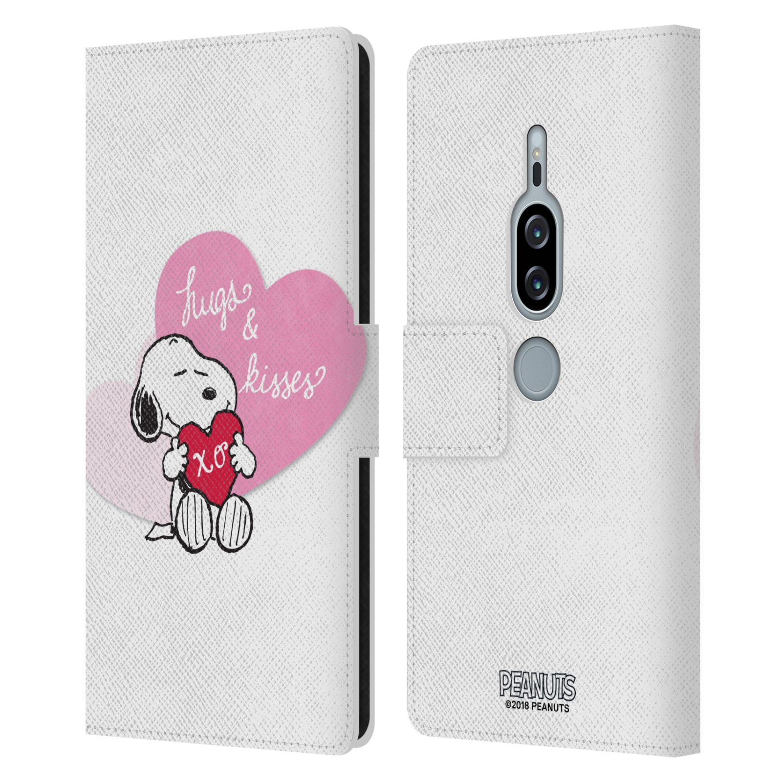 Pouzdro na mobil Sony Xperia XZ2 Premium - Head Case - Peanuts - Snoopy pejsek se srdíčkem