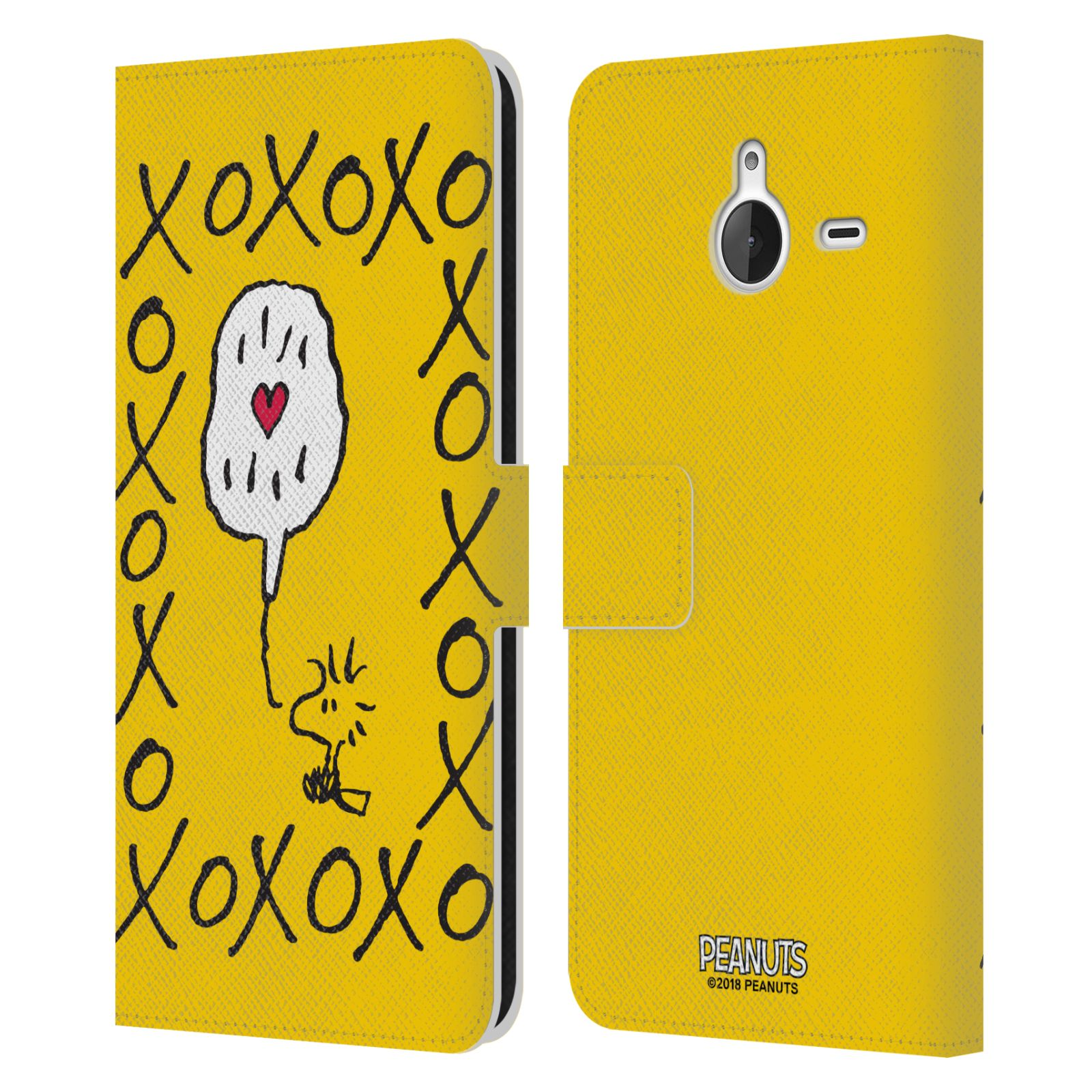 Pouzdro na mobil Nokia Lumia 640 XL - Head Case - Peanuts - Woodstock ptáček XOXO