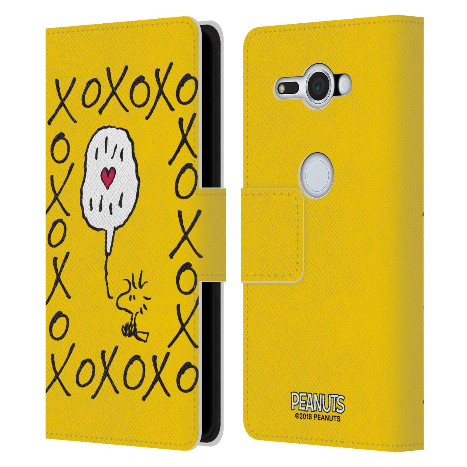 Pouzdro na mobil Sony Xperia XZ2 Compact - Head Case - Peanuts - Woodstock ptáček XOXO