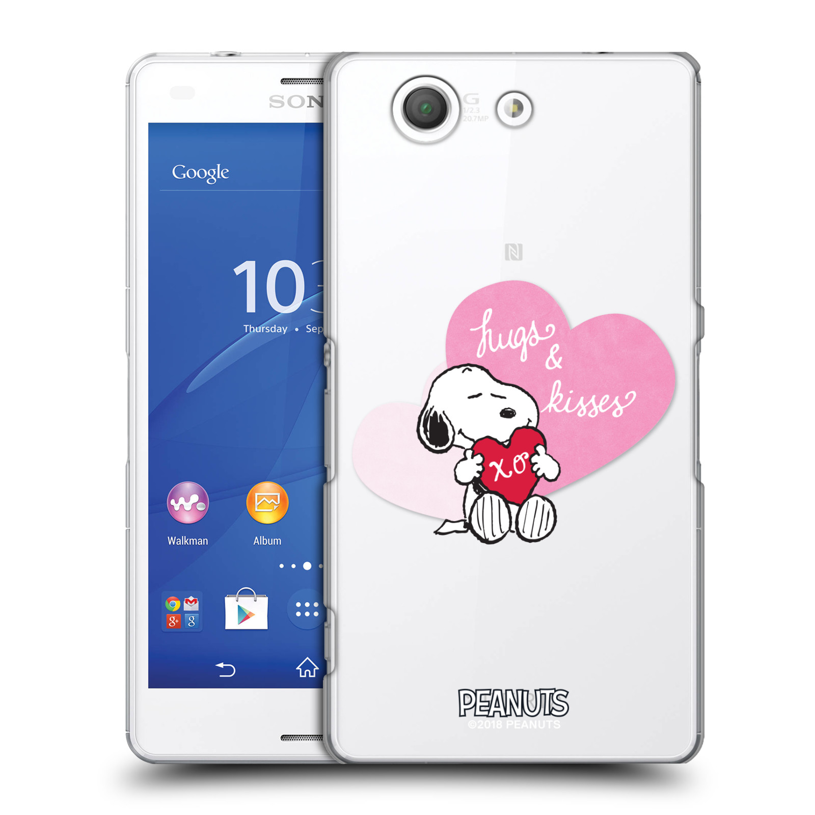 Pouzdro na mobil Sony Xperia Z3 COMPACT Oficiální motiv Snoopy pejsek růžové srdíčko
