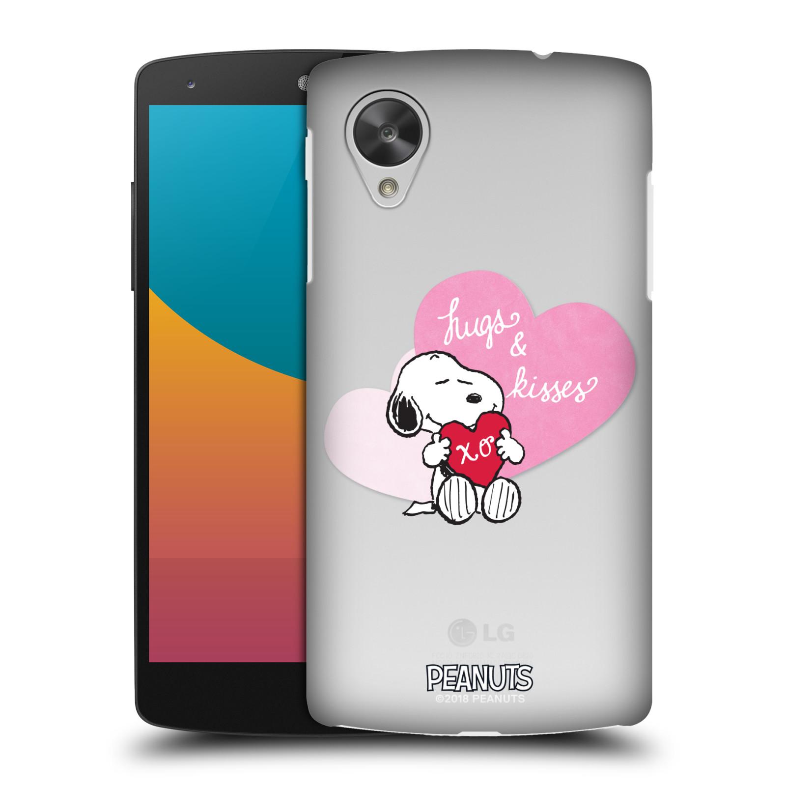 Pouzdro na mobil LG Nexus 5 Oficiální motiv Snoopy pejsek růžové srdíčko