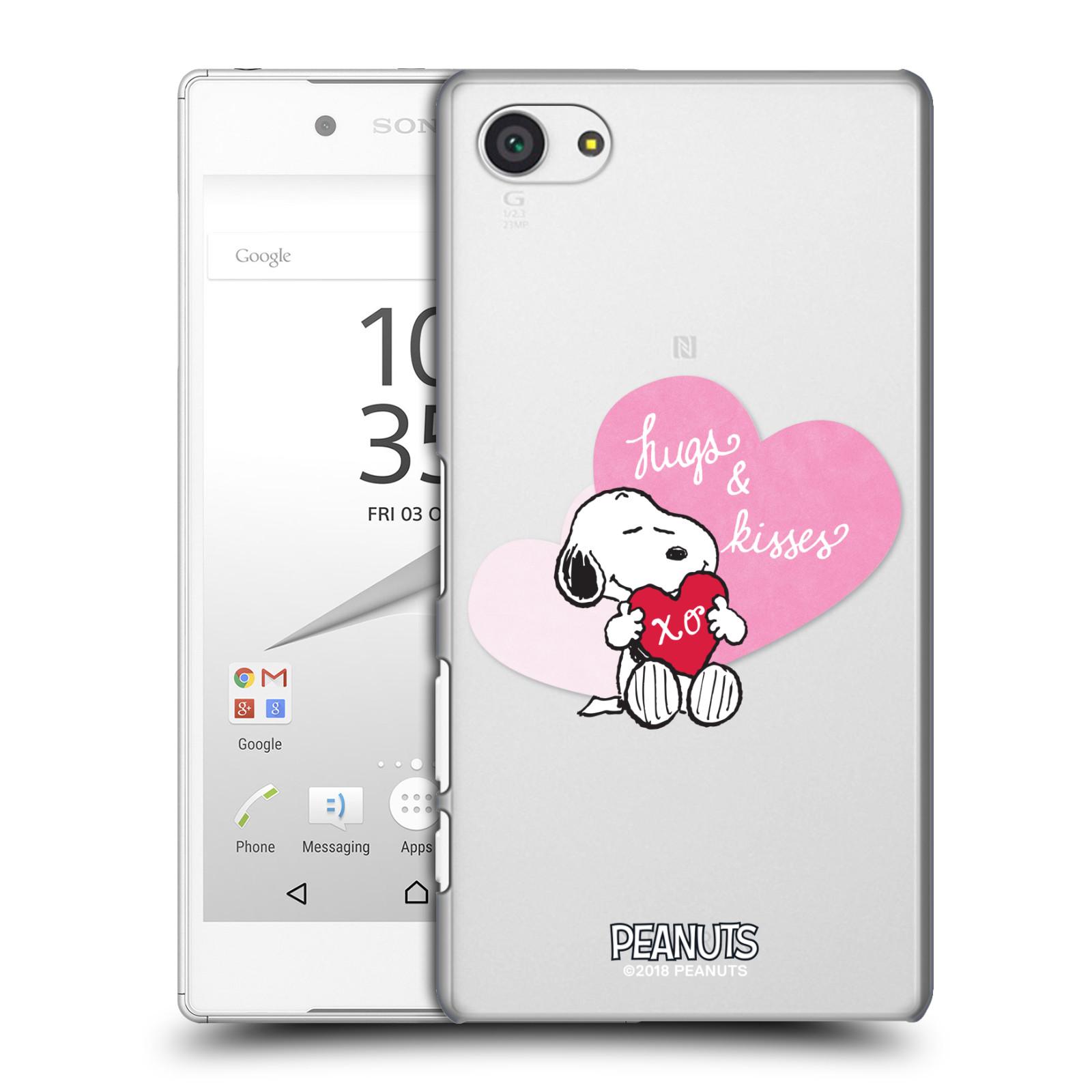 Pouzdro na mobil Sony Xperia Z5 COMPACT Oficiální motiv Snoopy pejsek růžové srdíčko