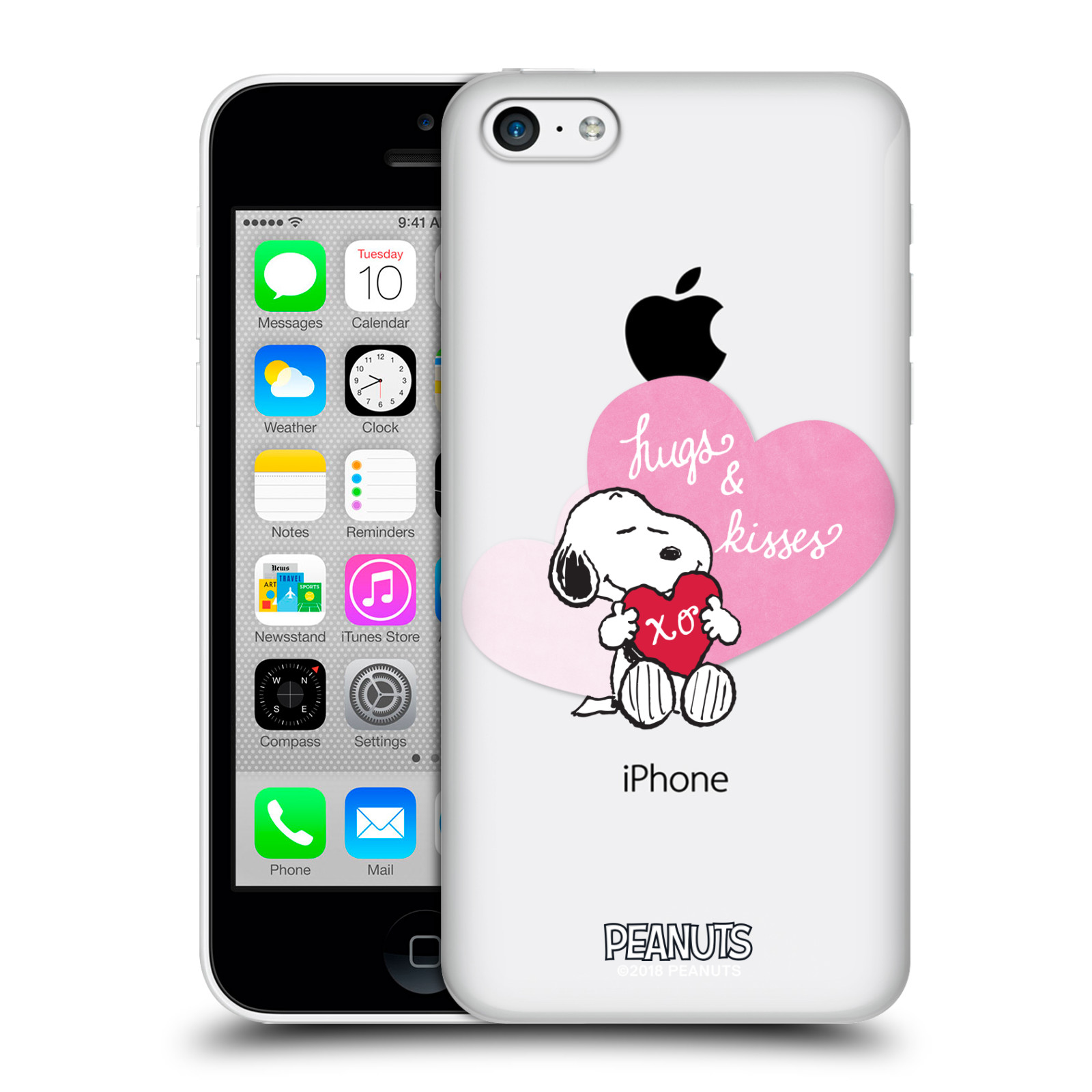 Pouzdro na mobil Apple Iphone 5C Oficiální motiv Snoopy pejsek růžové srdíčko